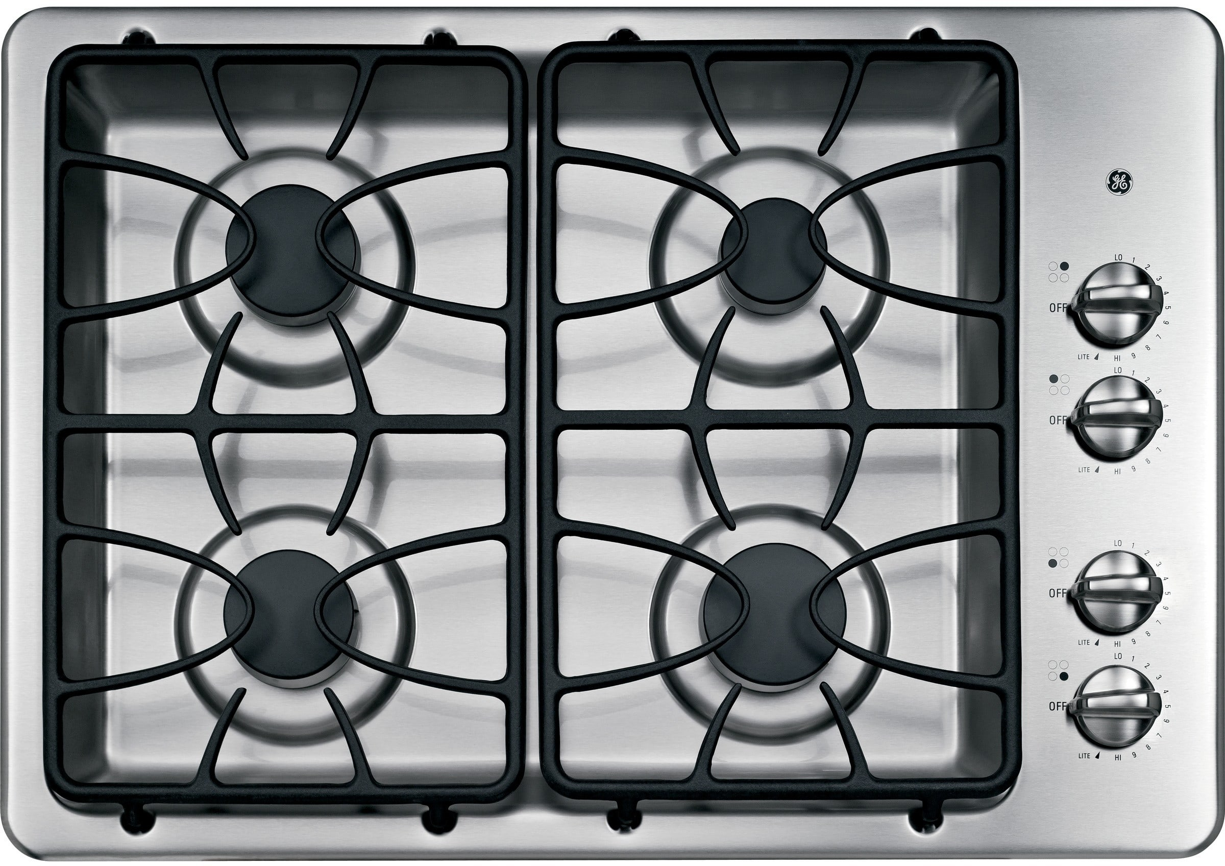 Ge Jgp329setss 30 Inch Gas Cooktop With 4 Sealed Burners