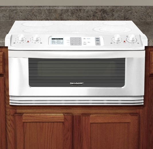 sharp insight pro series kb5121kw featured view - Sharp Drawer Microwave