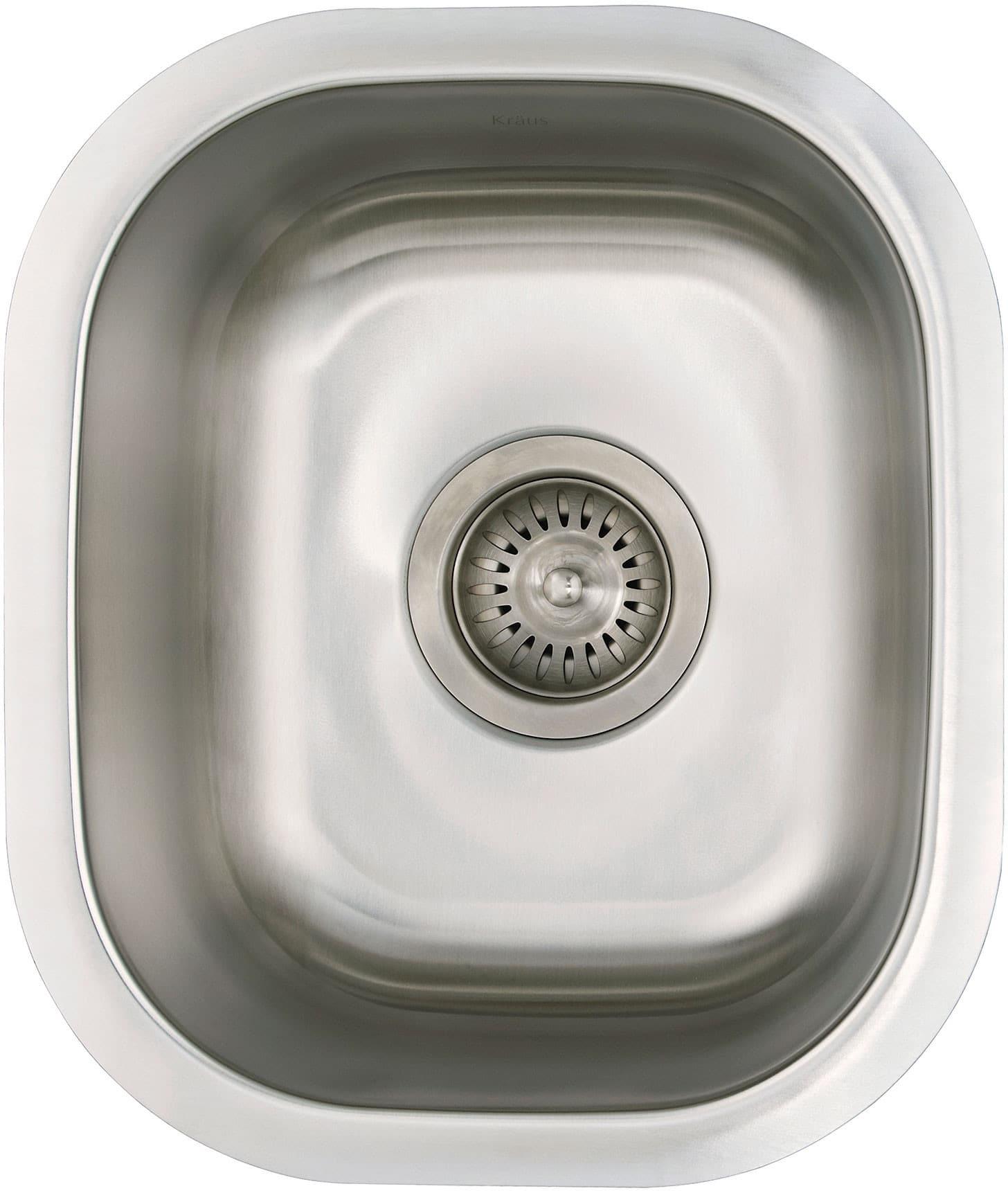 Beau Kraus KBU17B 13 Inch Undercounter Sink With 7 Inch Basin Depth, 18 Gauge,  304 Series Stainless Steel, Sound Dampening Insulation And Satin Finish