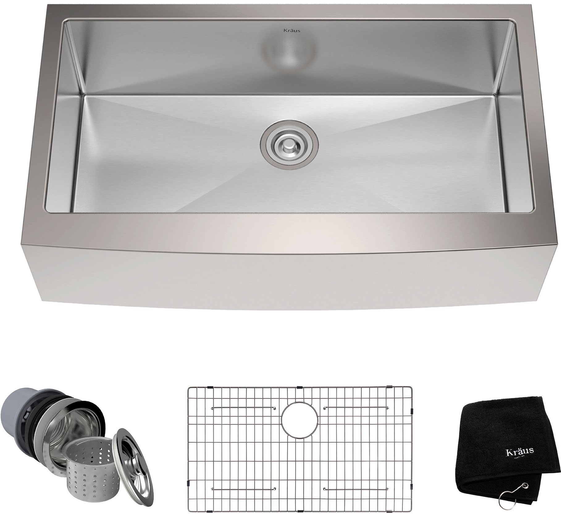 Kraus KHF20036 36 Inch Farmhouse Single Bowl Kitchen Sink with 16 ...