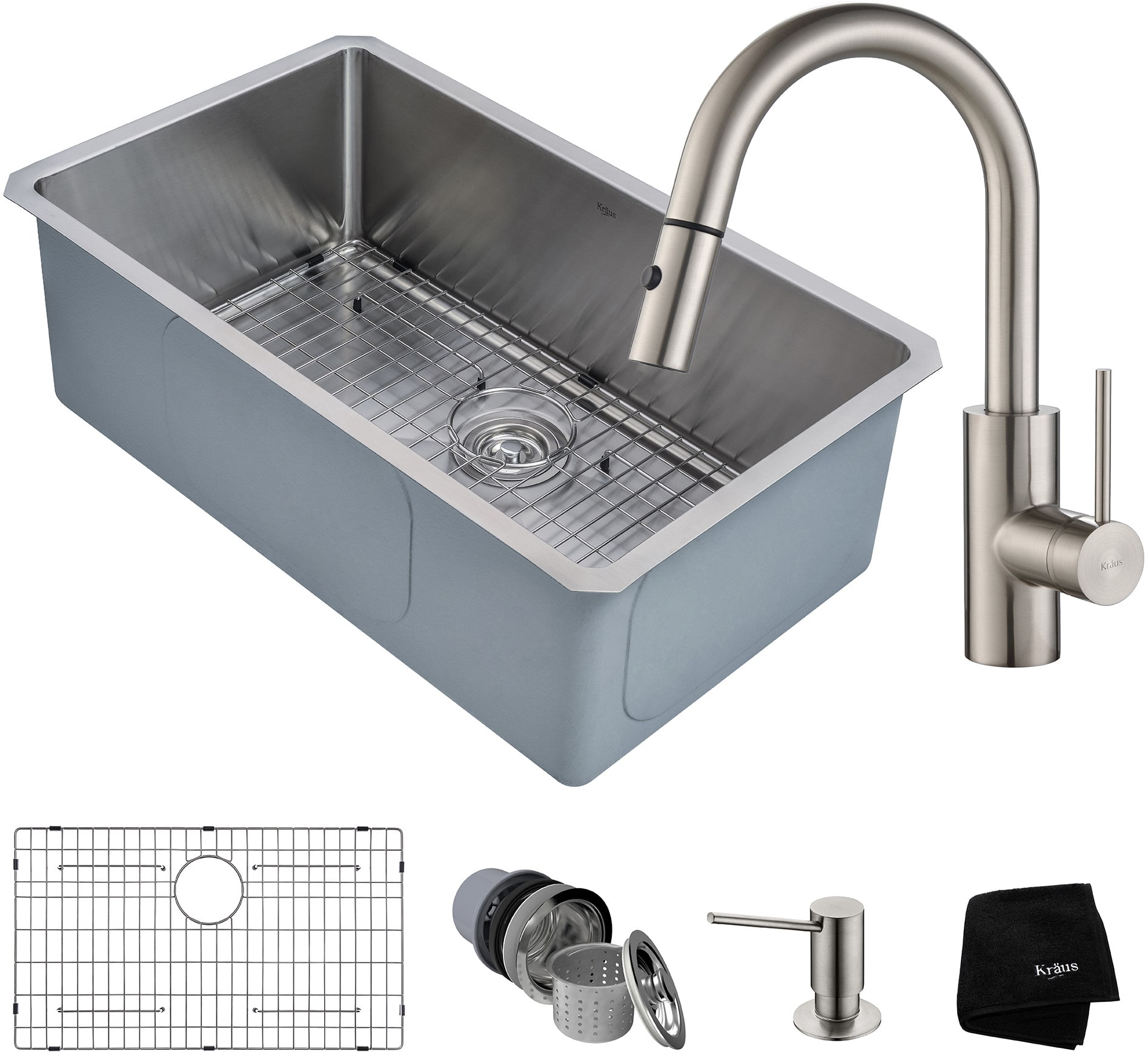 kitchen sink and faucet combo kraus khu10030262041ss 30 inch kitchen sink and faucet 8431