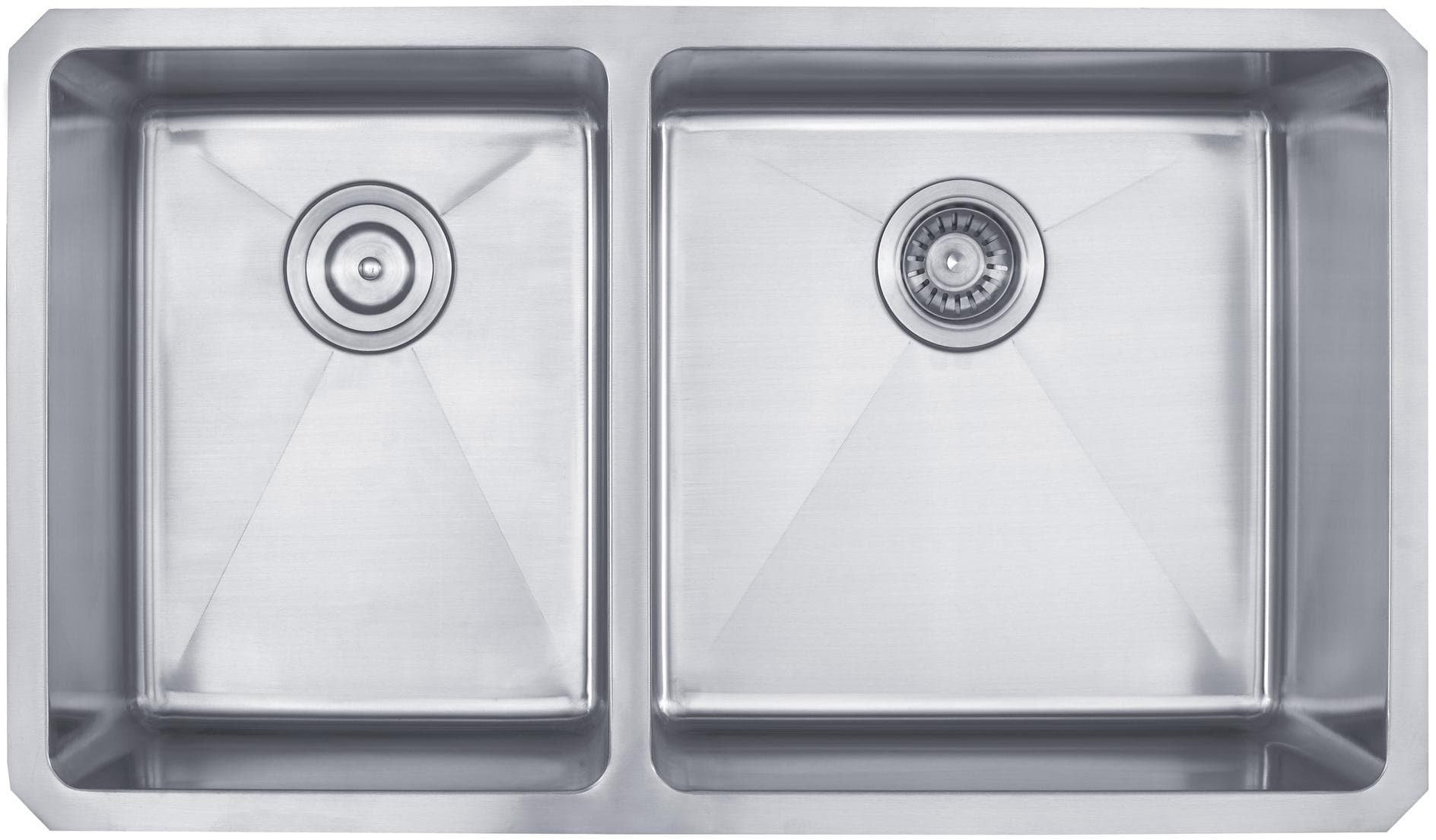 Kraus KHU10433 33 Inch Undermount 40/60 Double Bowl Kitchen Sink With 16  Gauge Stainless Steel Construction, Scratch Resistant Finish, Stainless  Steel ...