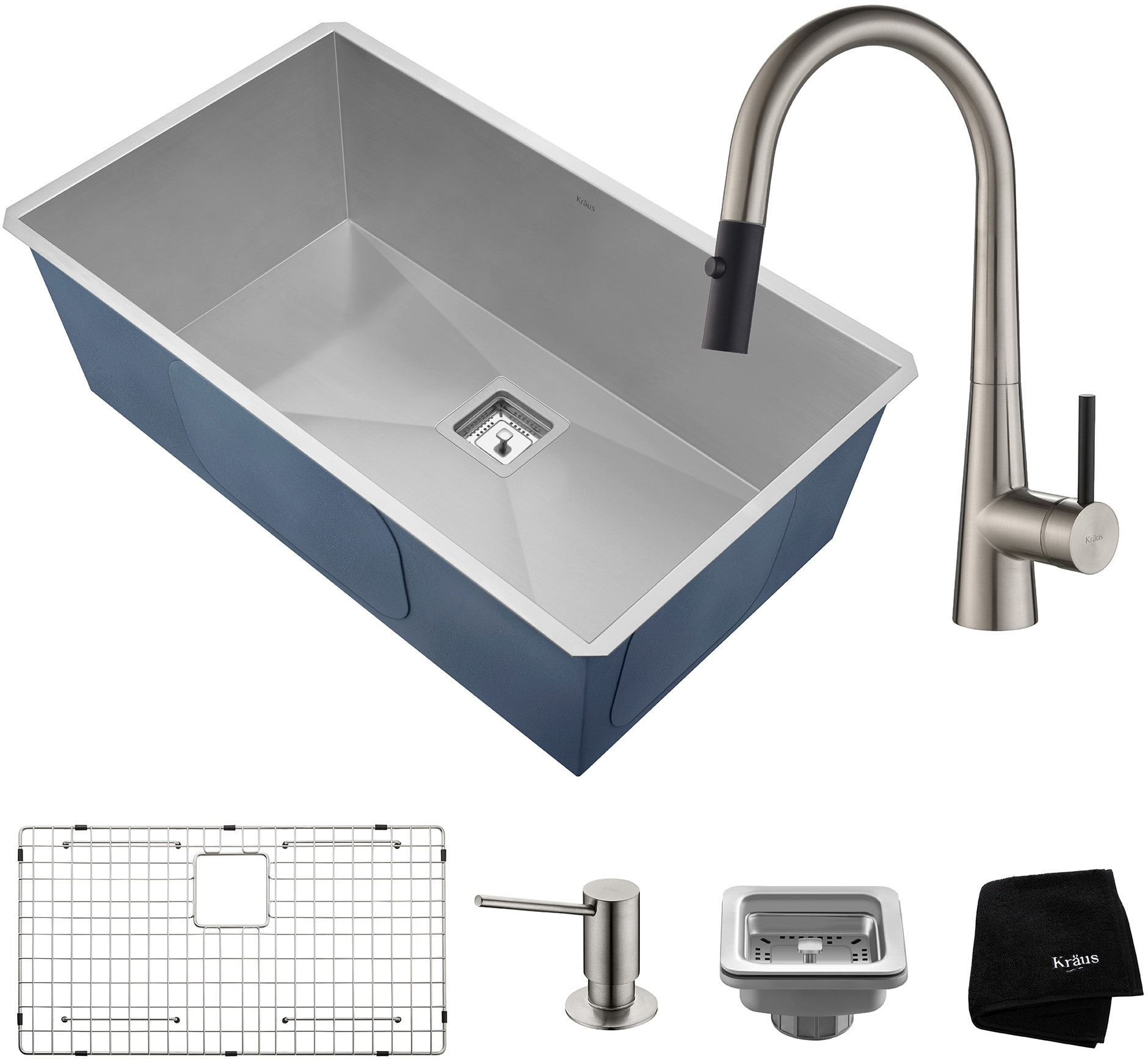 kitchen sink and faucet combinations kraus khu32272041ss 31 inch undermount kitchen sink and 8430