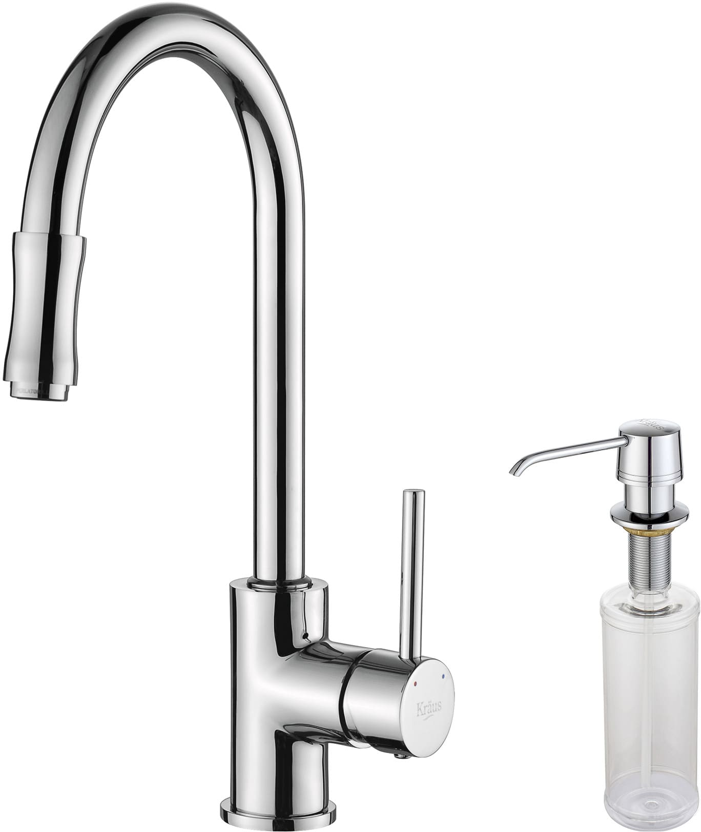 pull faucet kitchen down d