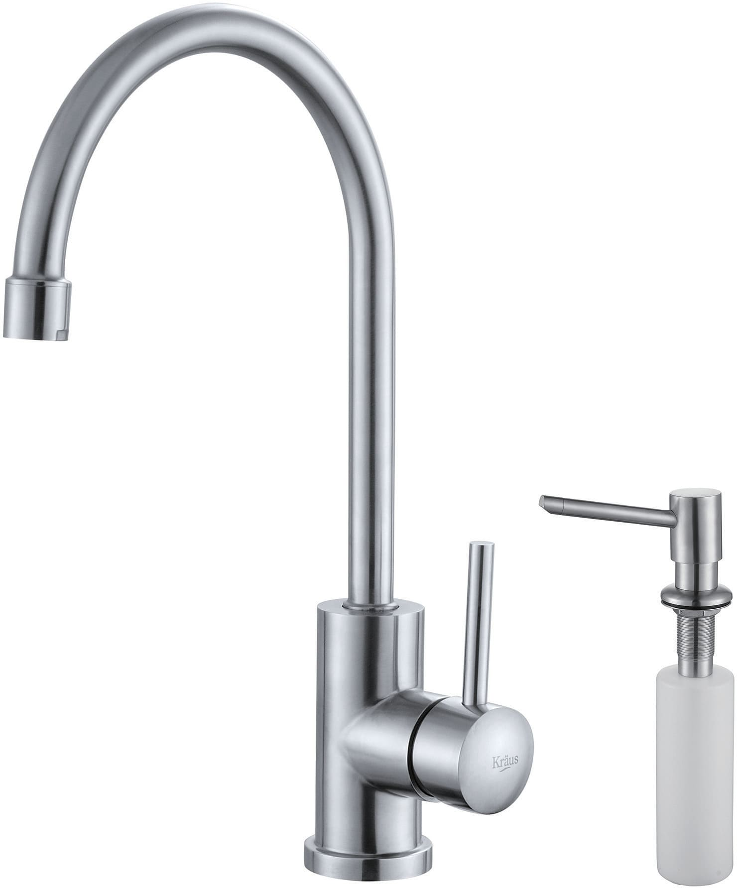 rinse pre in kpf pull stainless canada single kraus dp faucets sinks steel amazon handle kitchen faucet style down commercial