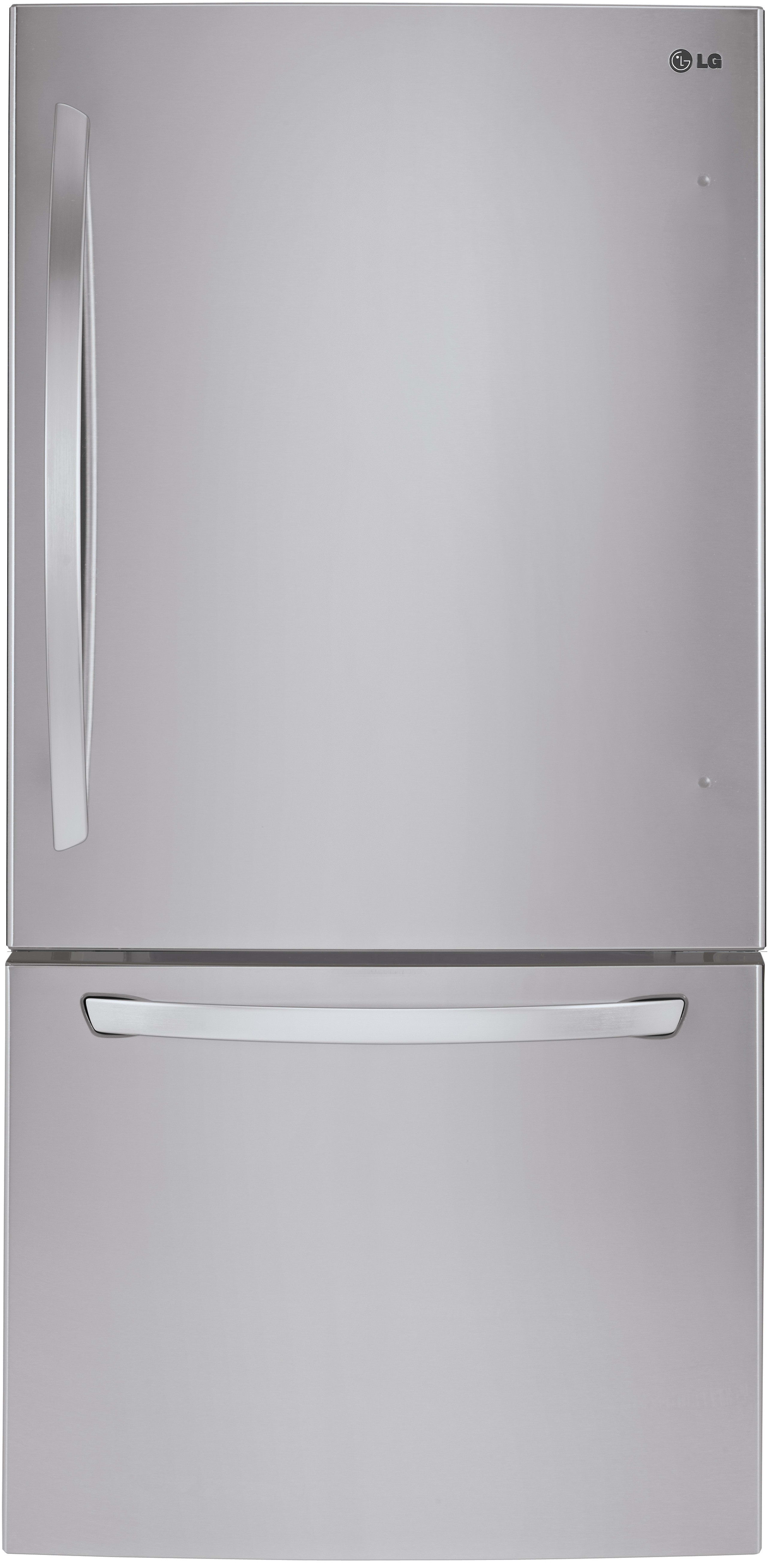 Lg Ldcs24223s 33 Inch Bottom Freezer Refrigerator With