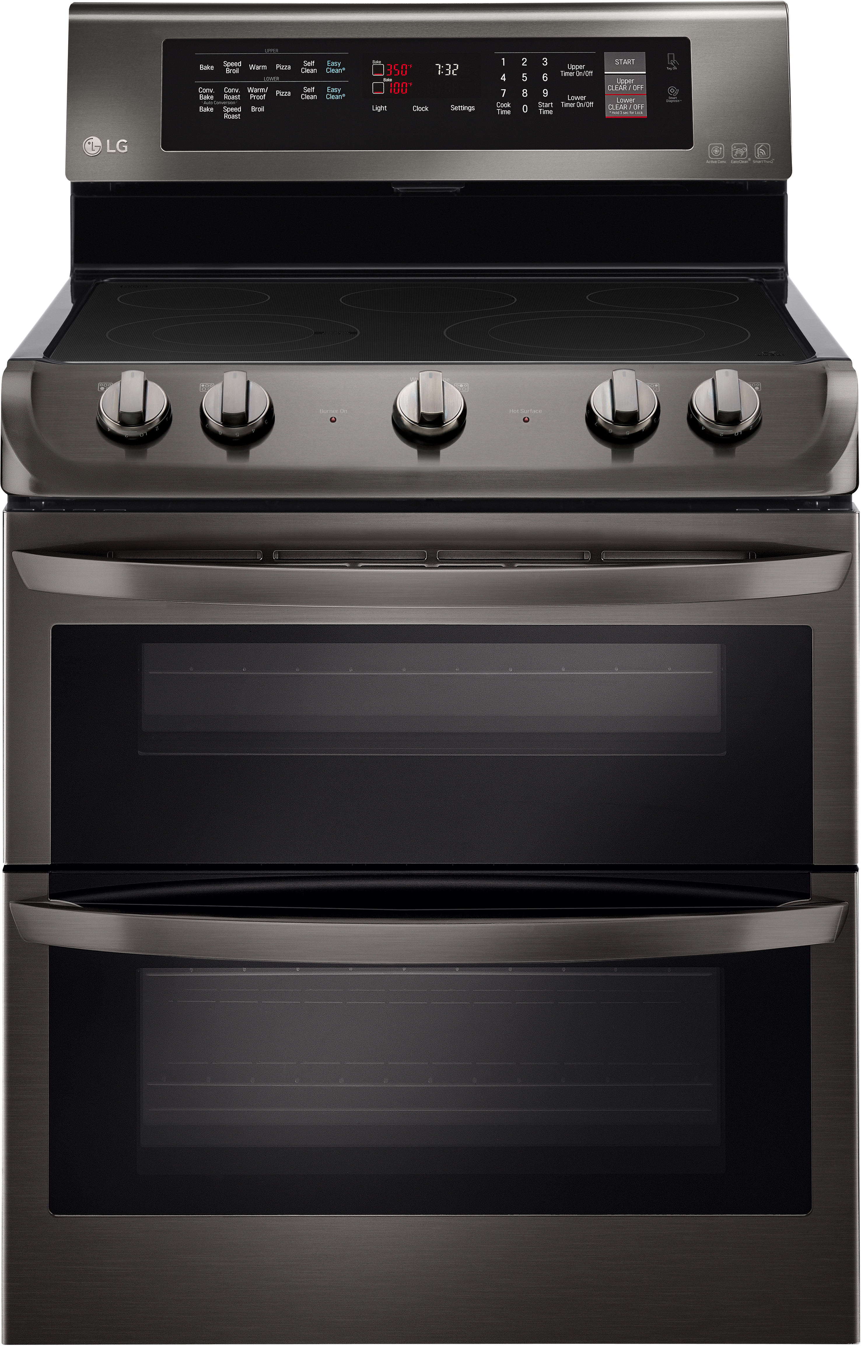 Lg Lde4413bd 30 Inch Dual Oven Electric Range With 7 3 Cu
