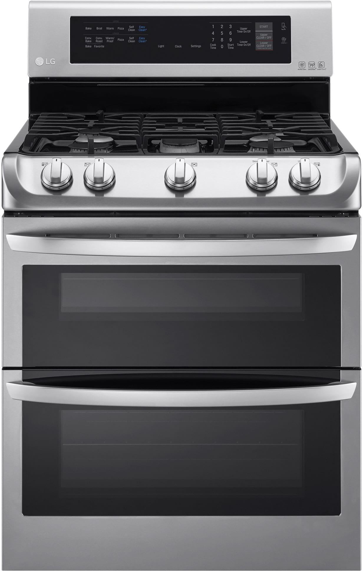 Lg double oven gas range reviews - Lg Ldg4313st 30 Inch Double Oven Gas Range With Probake Convection Ultraheat Burner Easyclean Mode 5 Sealed Burners 6 9 Cu Ft