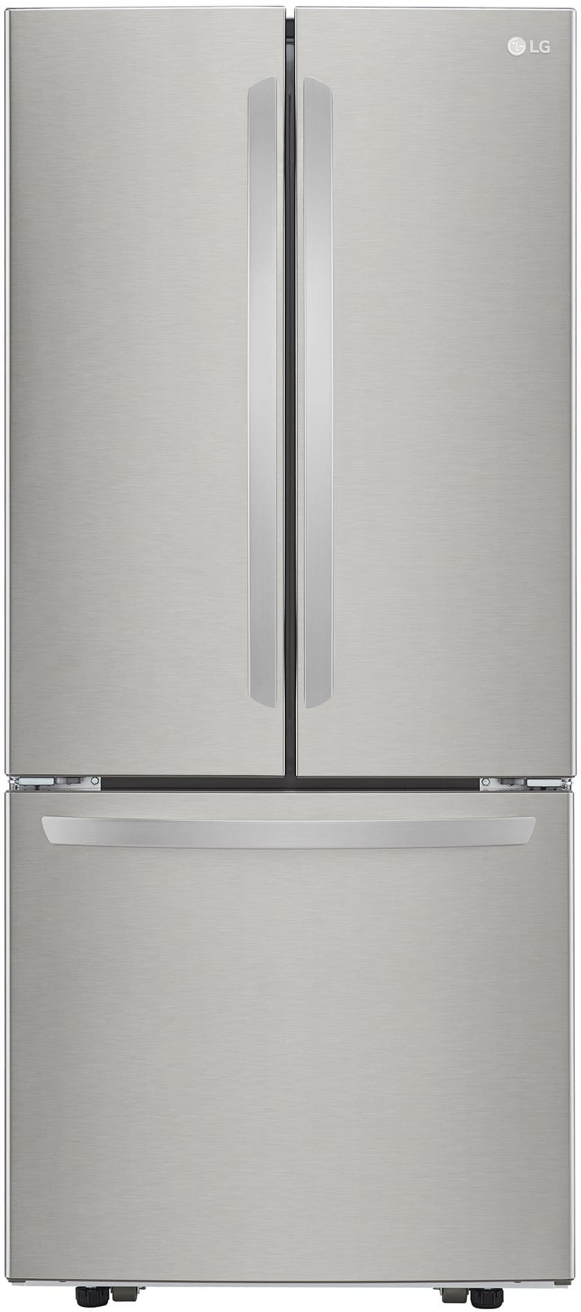 LG LFCS22520S 30 Inch French Door Refrigerator with Glide N\' Serve ...