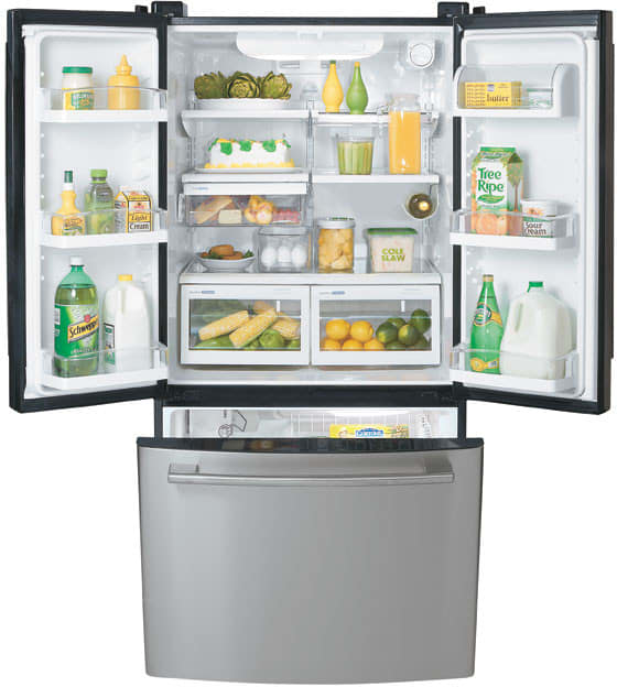 Lg Lfd22860sb 22 4 Cu Ft French Door Refrigerator With