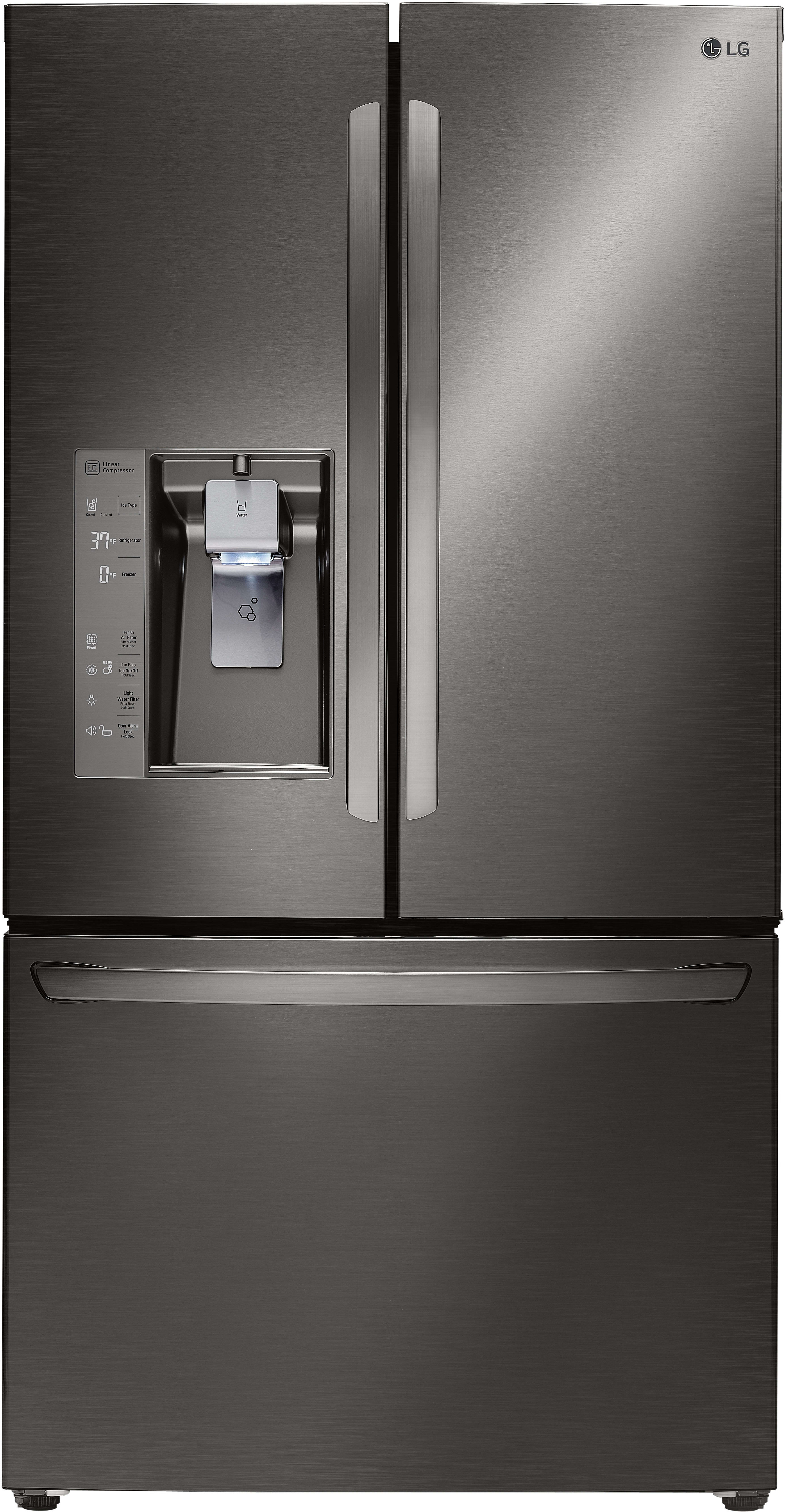 LG LFXC24726D 36 Inch Counter Depth French Door Refrigerator With Slim  SpacePlus® Ice System, Smart Cooling® Plus, Smart Pull® Handle, Tall Ice U0026  Water ...