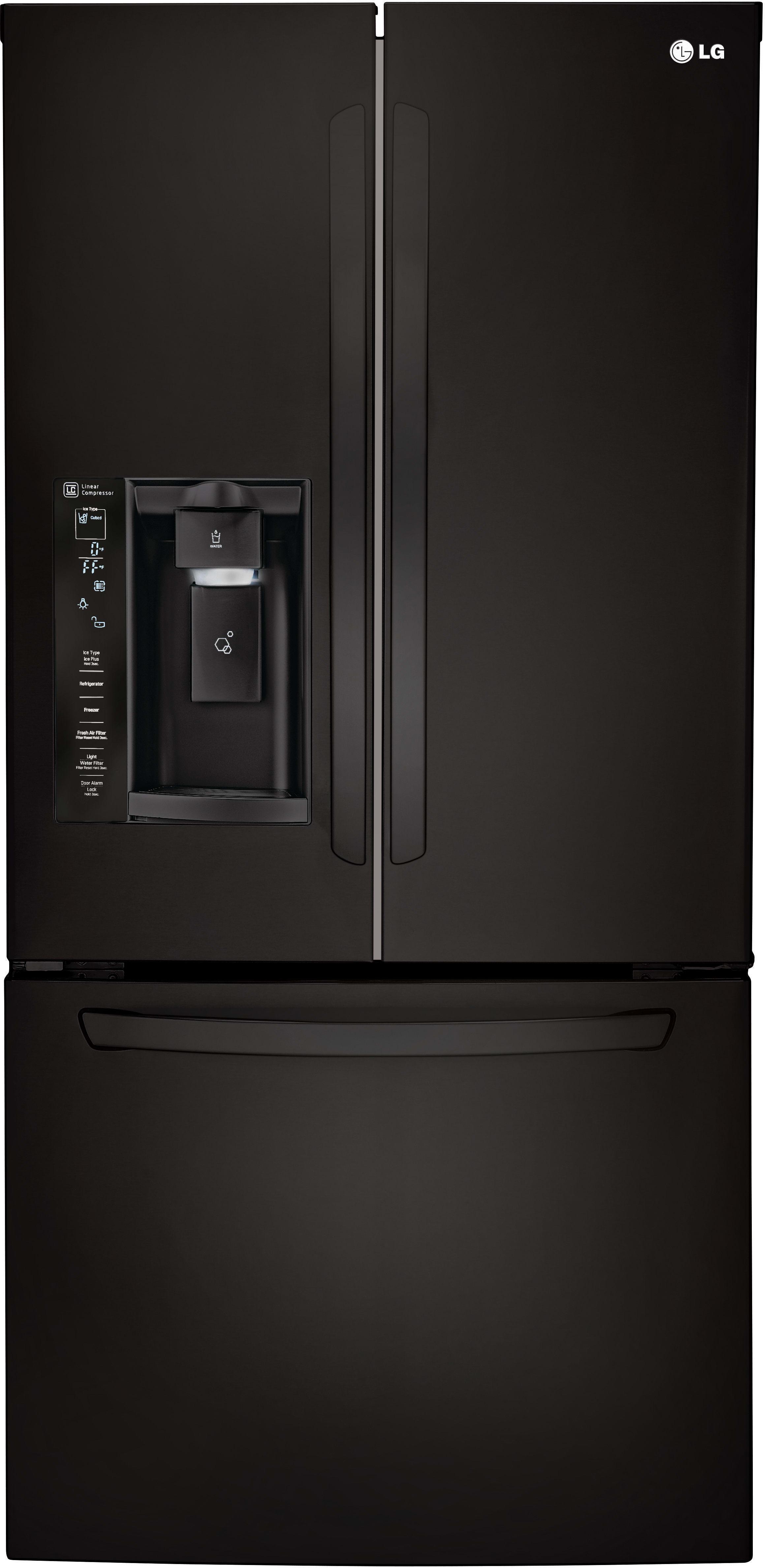 LG LFXS B 33 Inch French Door Refrigerator with Slim SpacePlus
