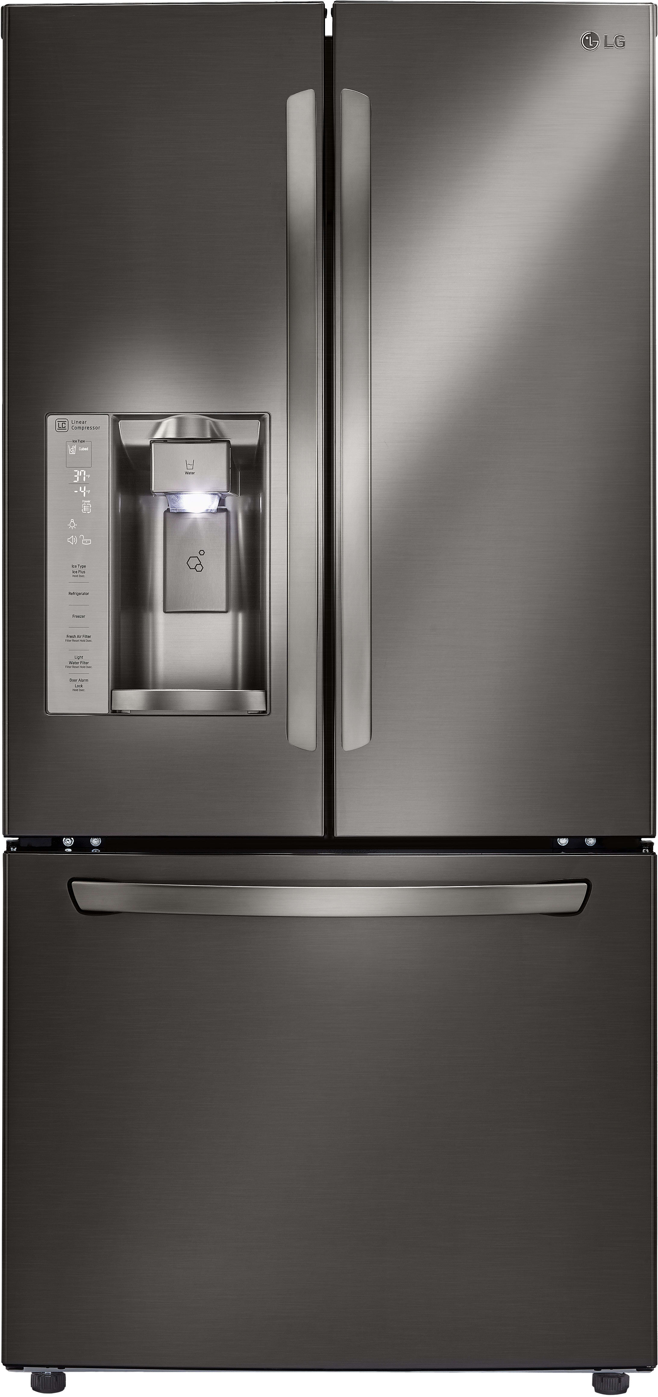 LG LFXS D 33 Inch French Door Refrigerator with Slim SpacePlus