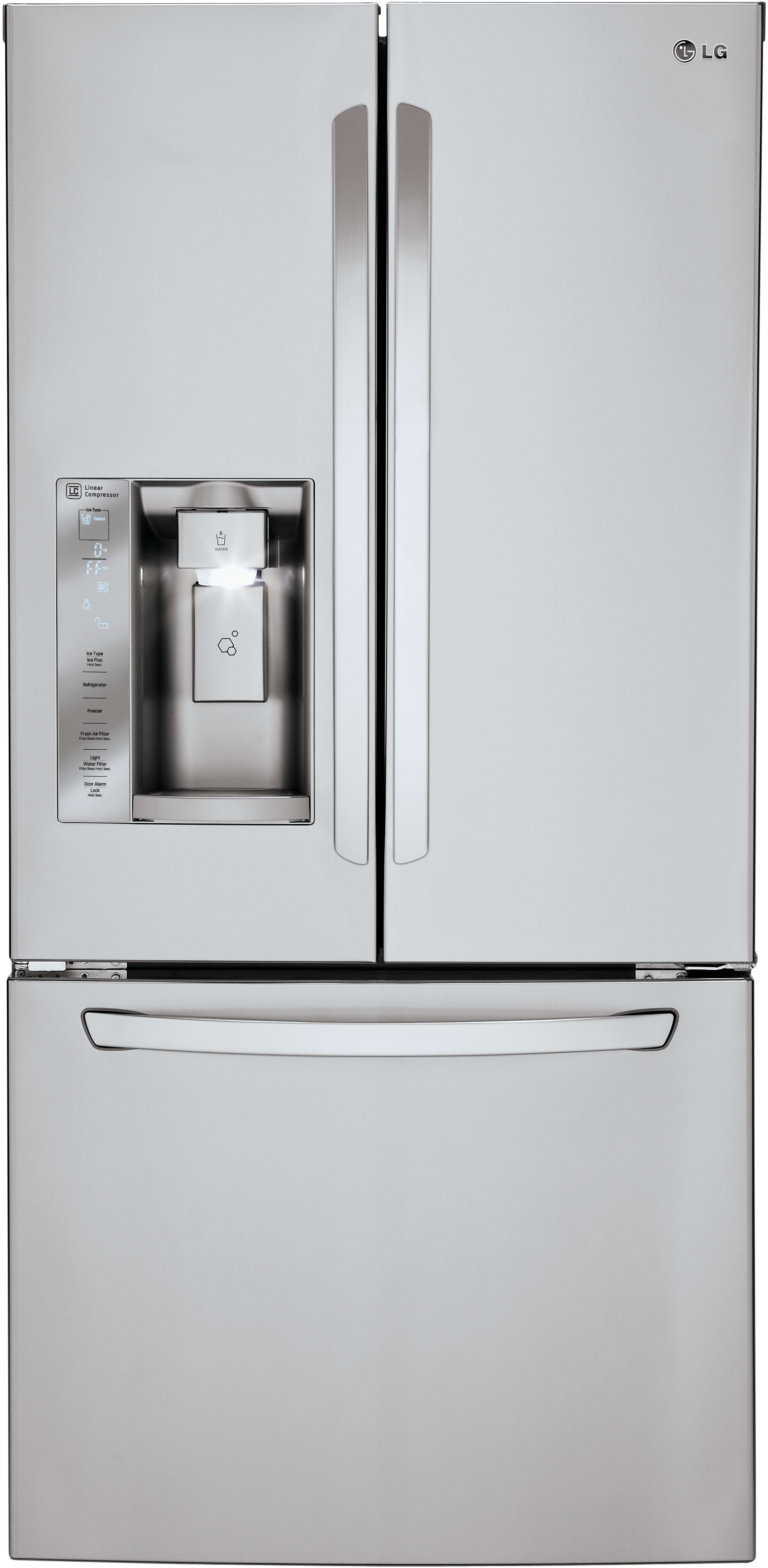 LG LFXS S 33 Inch French Door Refrigerator with Slim SpacePlus