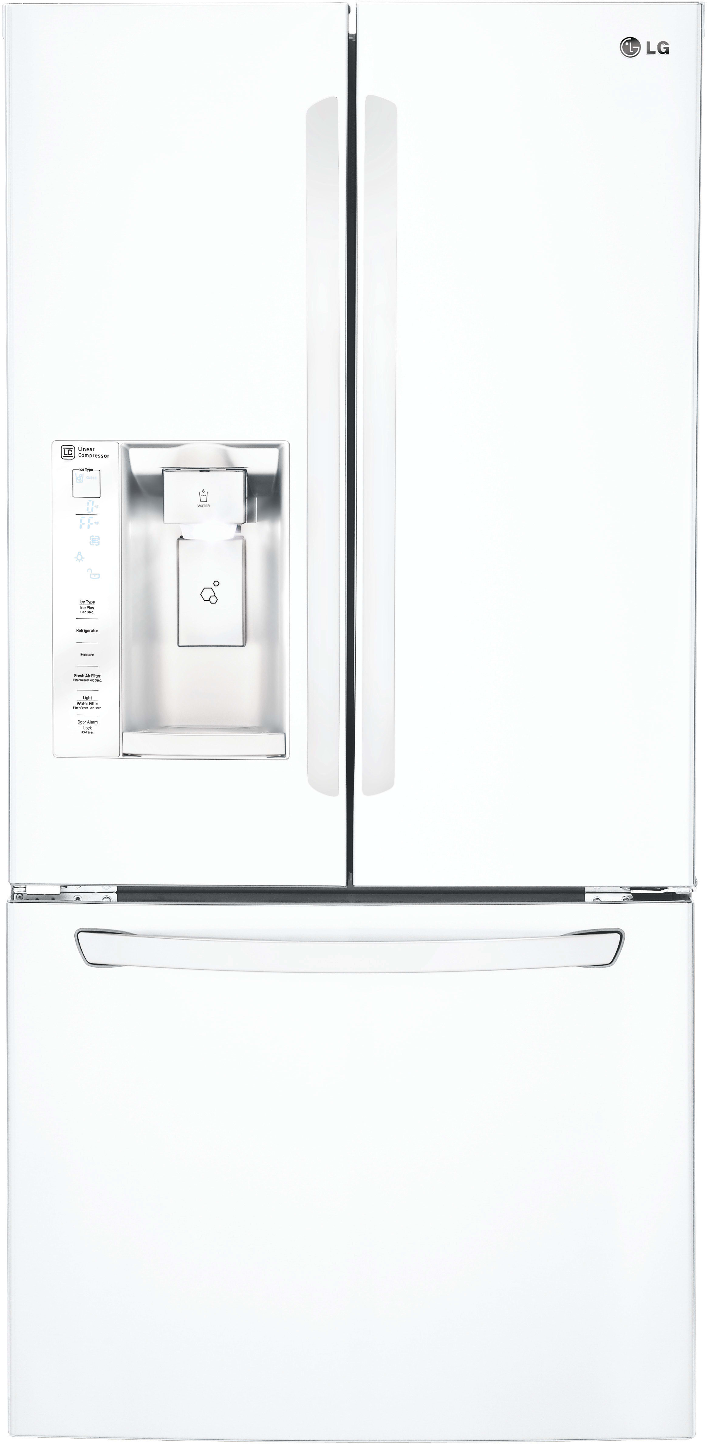 LG LFXS W 33 Inch French Door Refrigerator with Slim SpacePlus