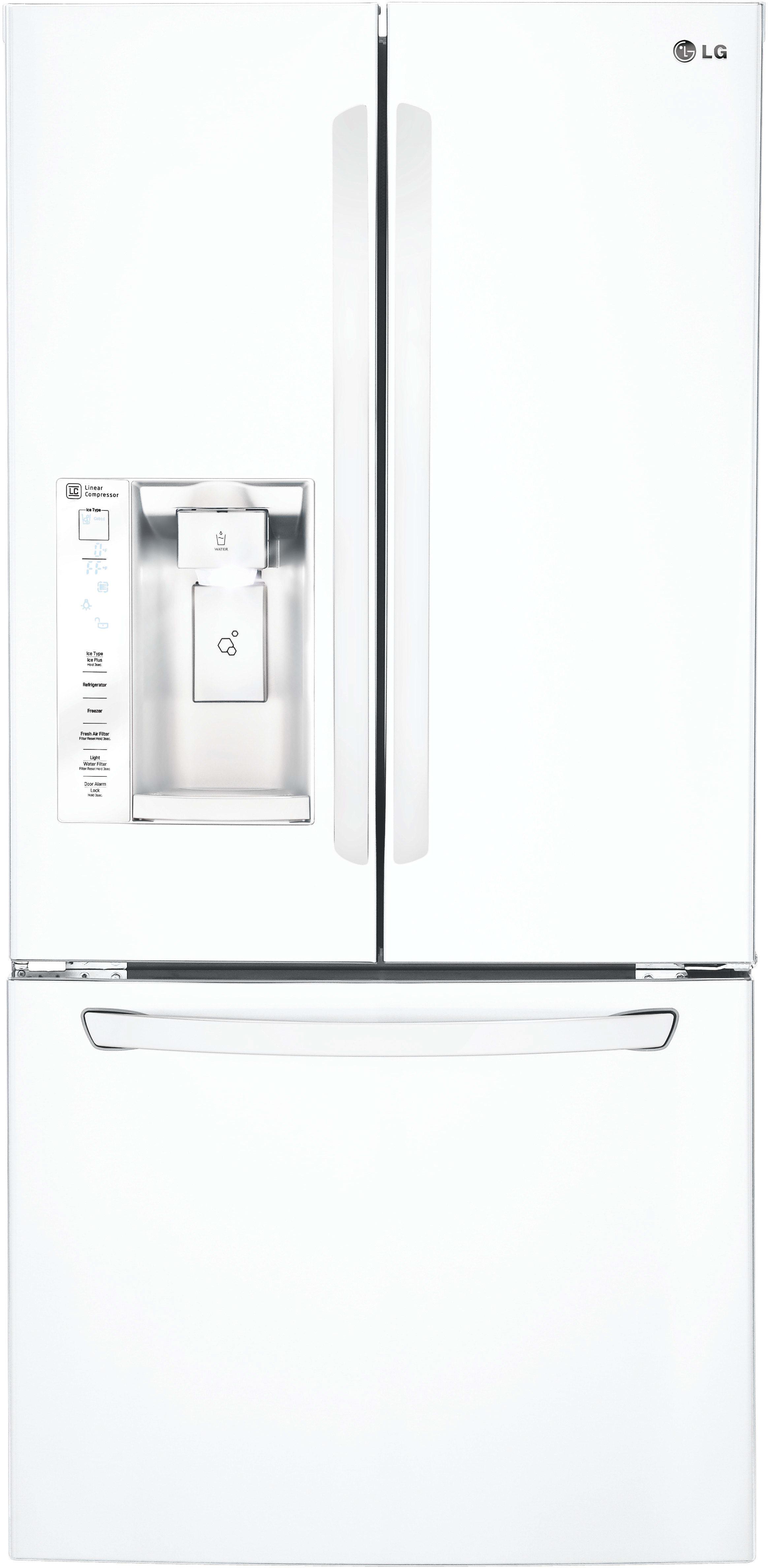 Lg Lfxs24623w 33 Inch French Door Refrigerator With Slim