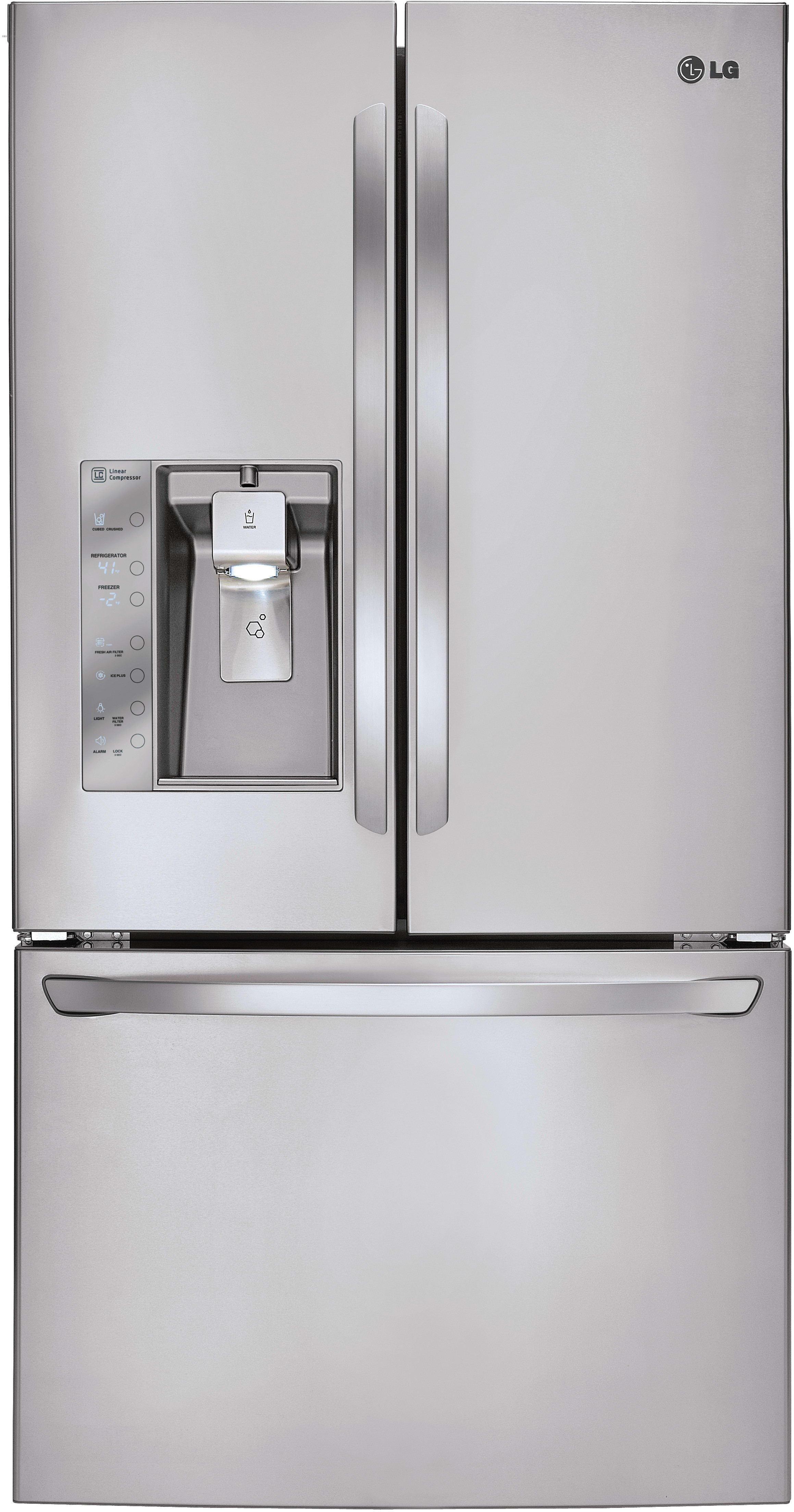 LG LFXS29626S 36 Inch French Door Refrigerator With Smart Cooling®, Slim  SpacePlus®, Dual Ice Makers, Glide Nu0027 Serve™ Drawer, Linear Compressor, ...