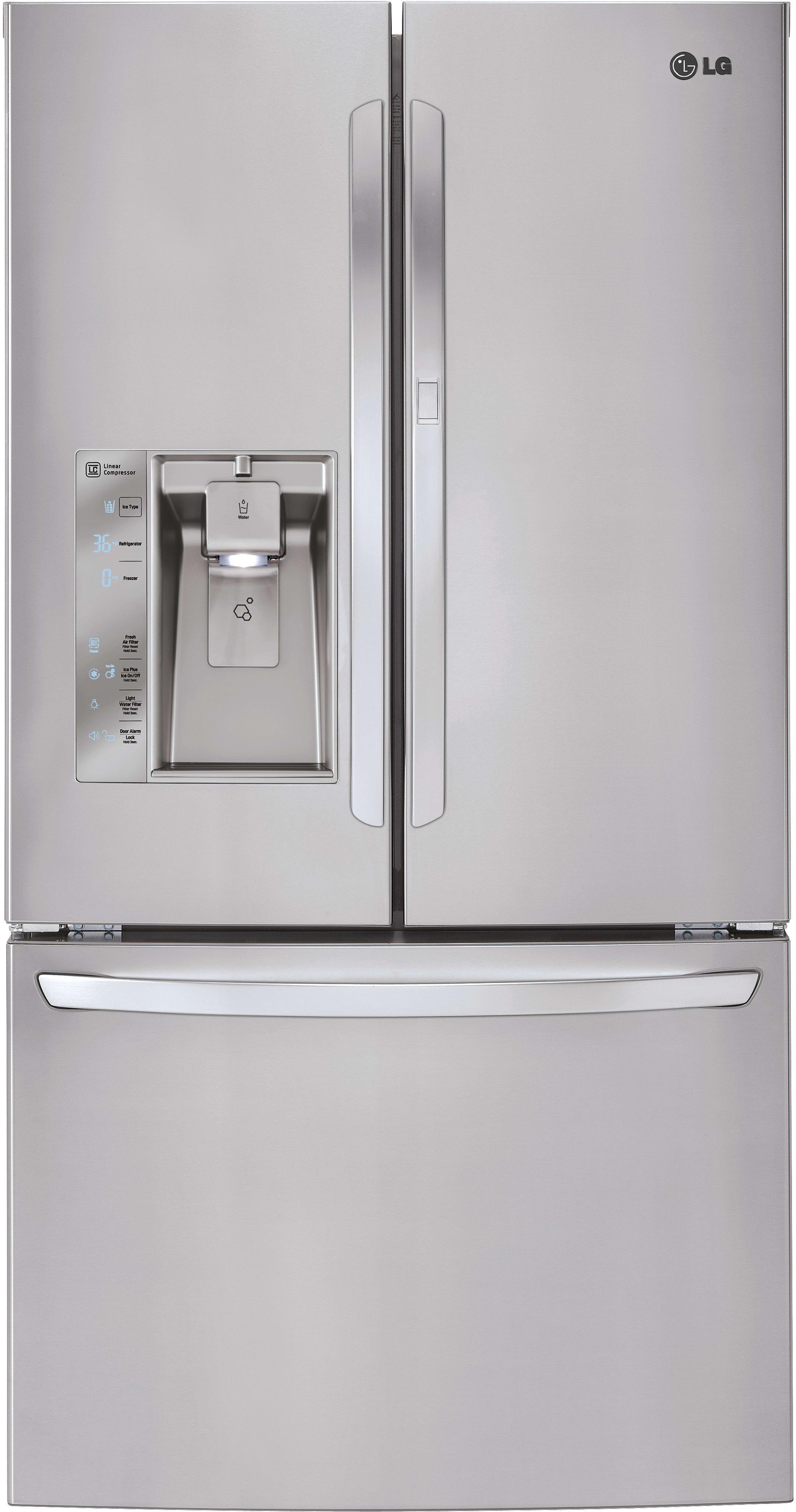 Great LG LFXS29766S 36 Inch French Door Refrigerator With Door In Door®, Smart  Cooling®, Slim SpacePlus® Ice System, Linear Compressor, Water And Air  Filters, ...