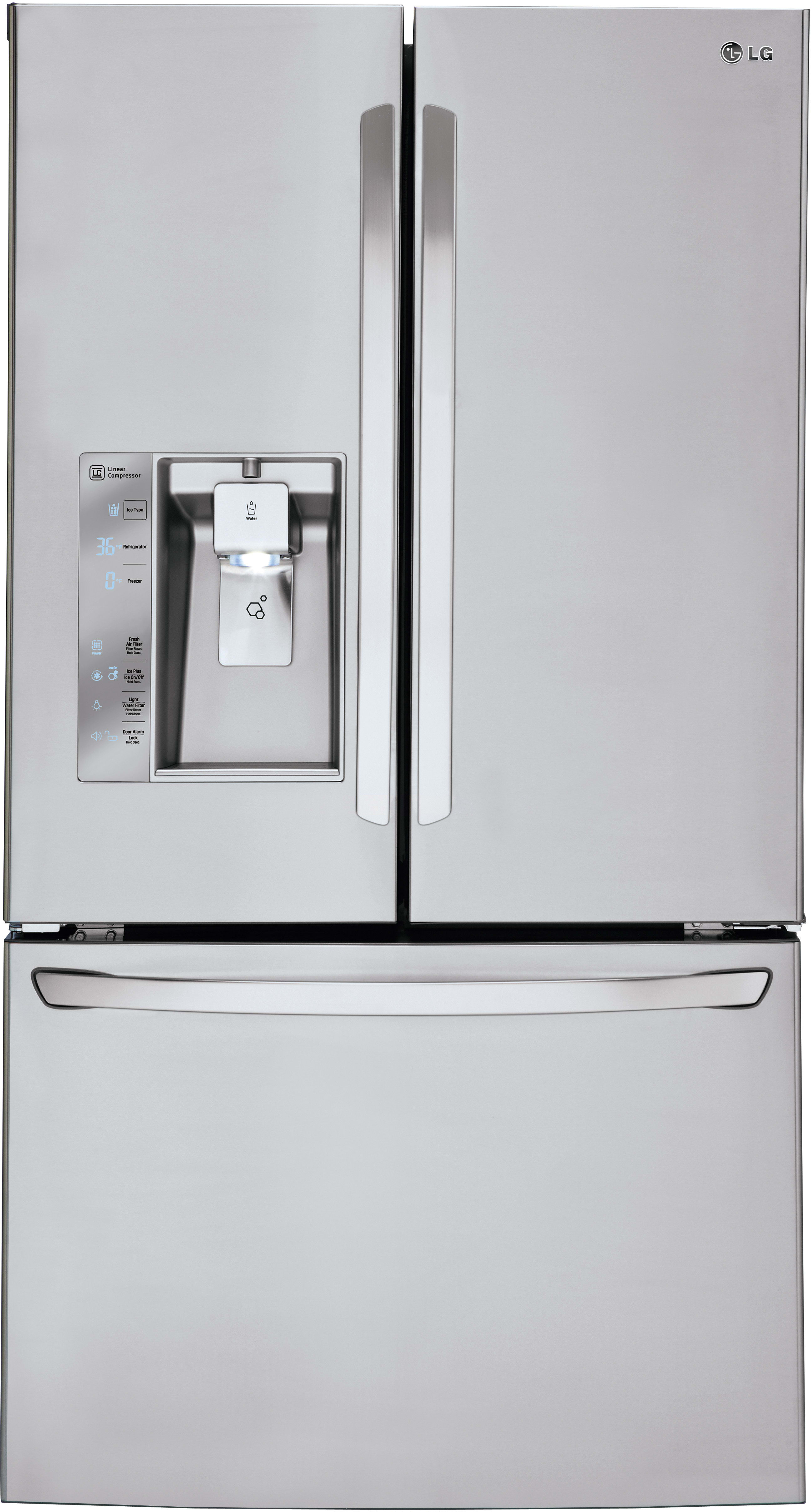 Ordinaire LG LFXS30726S 36 Inch French Door Refrigerator With Slim SpacePlus® Ice  System, Smart Cooling Plus®, SpillProtector™ Shelves, Air And Water  Filters, ...