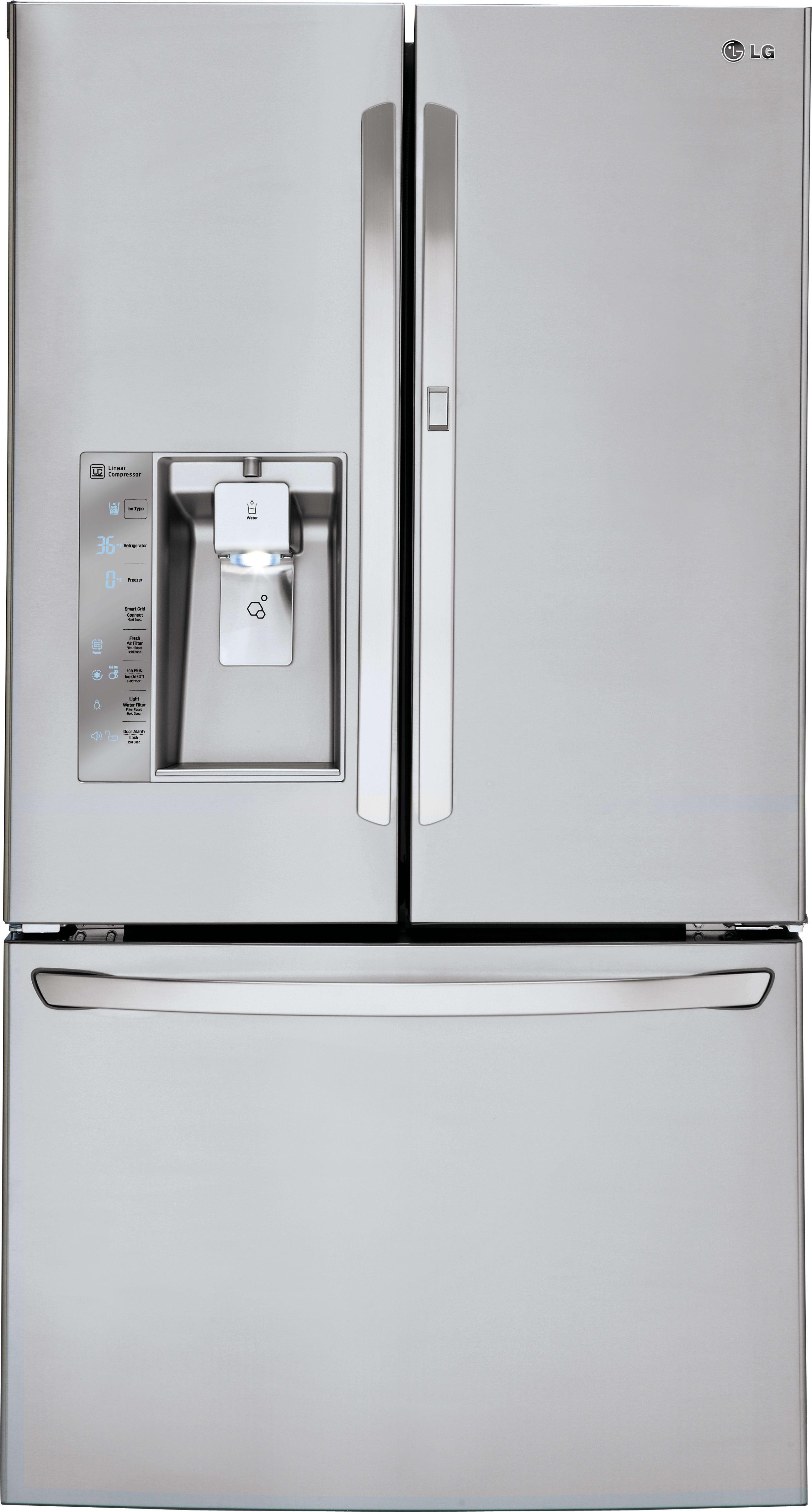 lg lfxs30766s 36 inch french door refrigerator with door in door slim spaceplus ice system. Black Bedroom Furniture Sets. Home Design Ideas