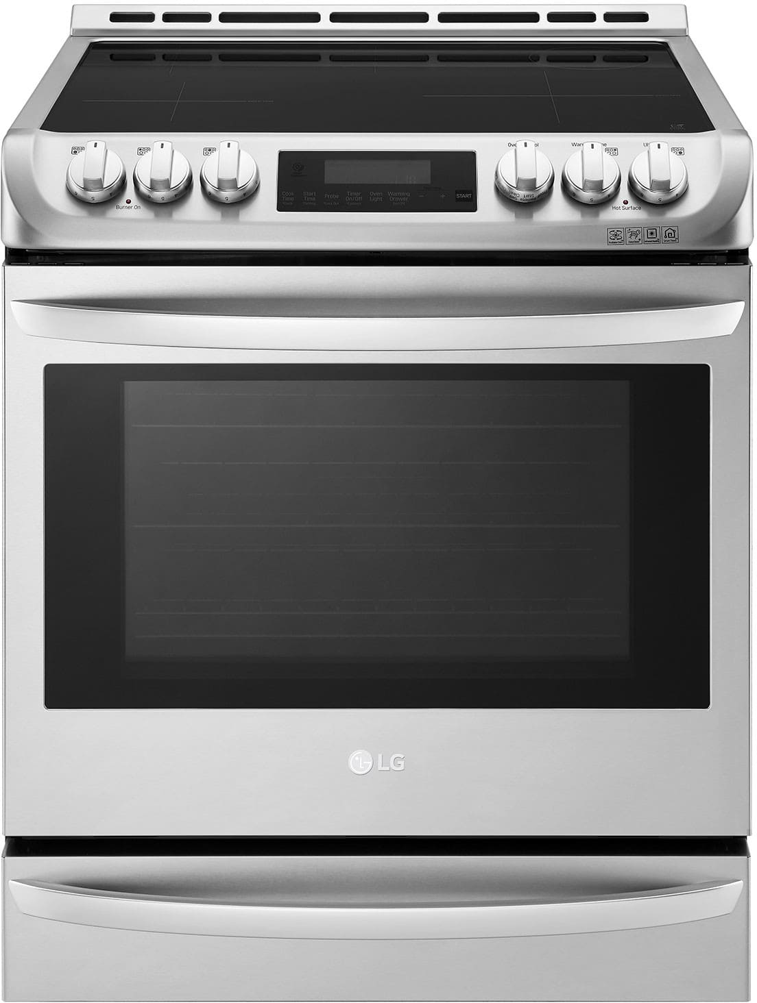 Delicieux LG LSE4617ST 30 Inch Slide In Induction Range With 6.3 Cu. Ft. Capacity, 5  Cooktop Zones, Infrared Grill, 11 Cooking Modes, ProBake Convection, Pizza  Mode, ...
