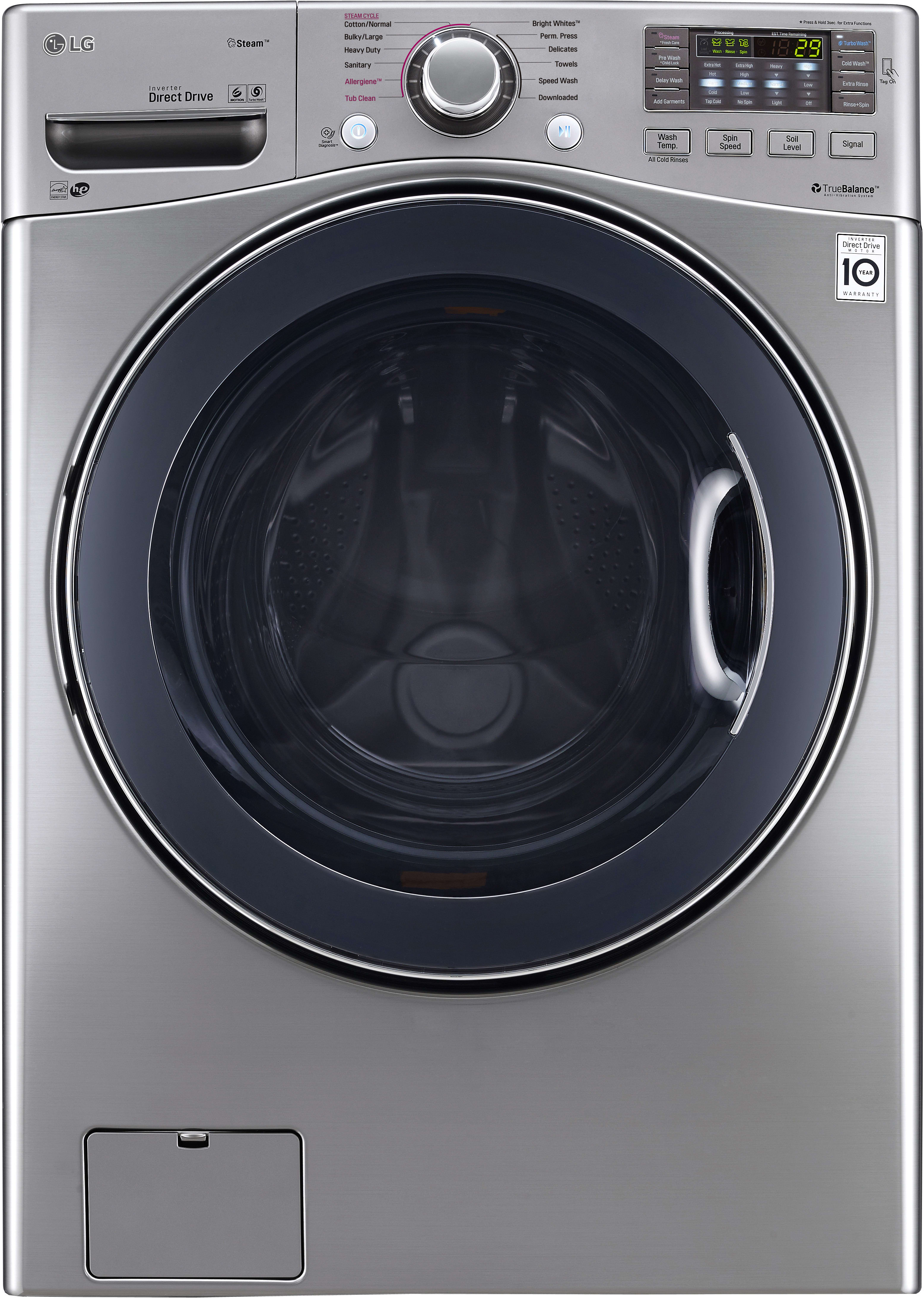 Best Top Load Washers >> LG WM3770HVA 27 Inch Front Load Washer with Steam ...