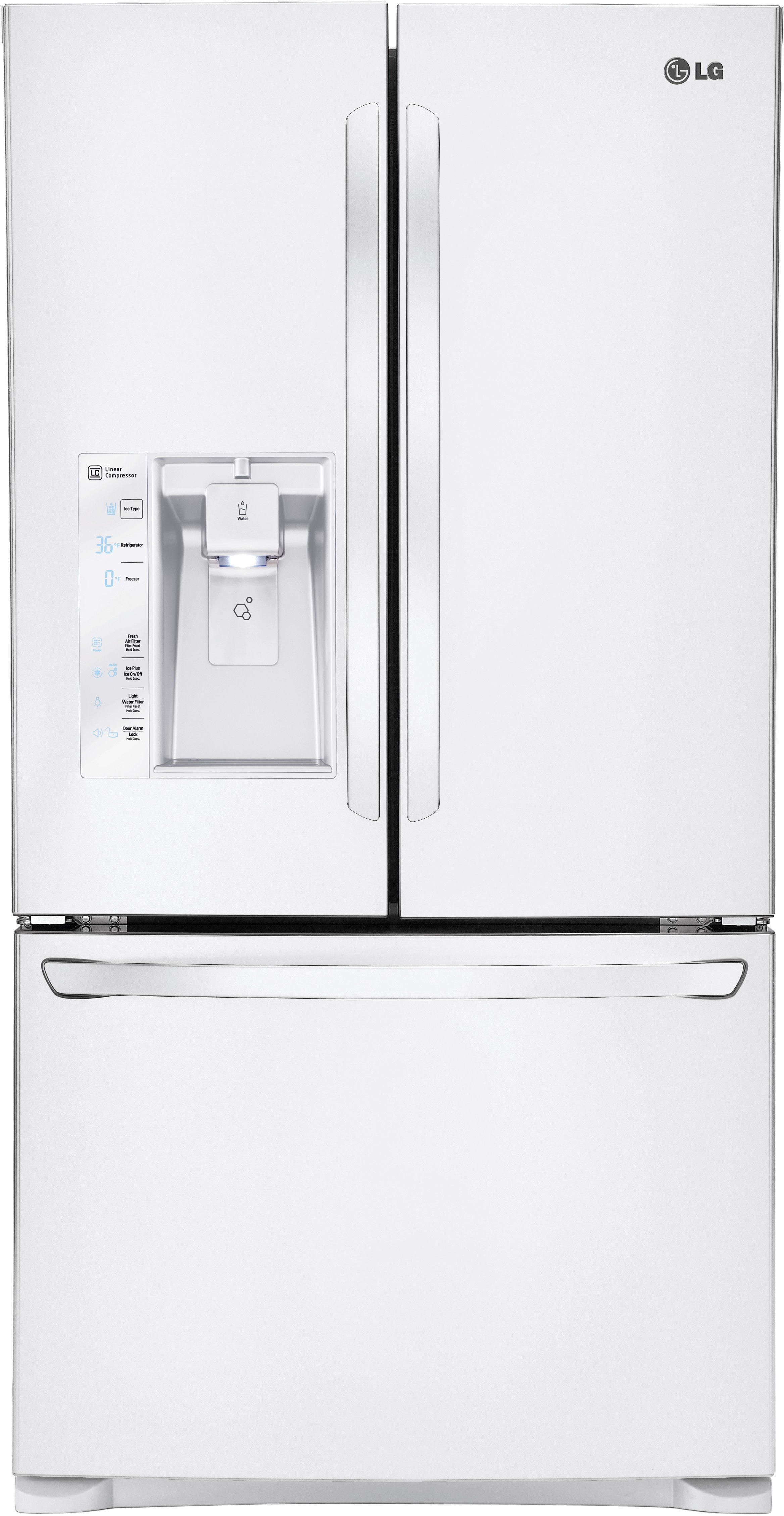 lg lfxs29626w 36 inch french door refrigerator with smart