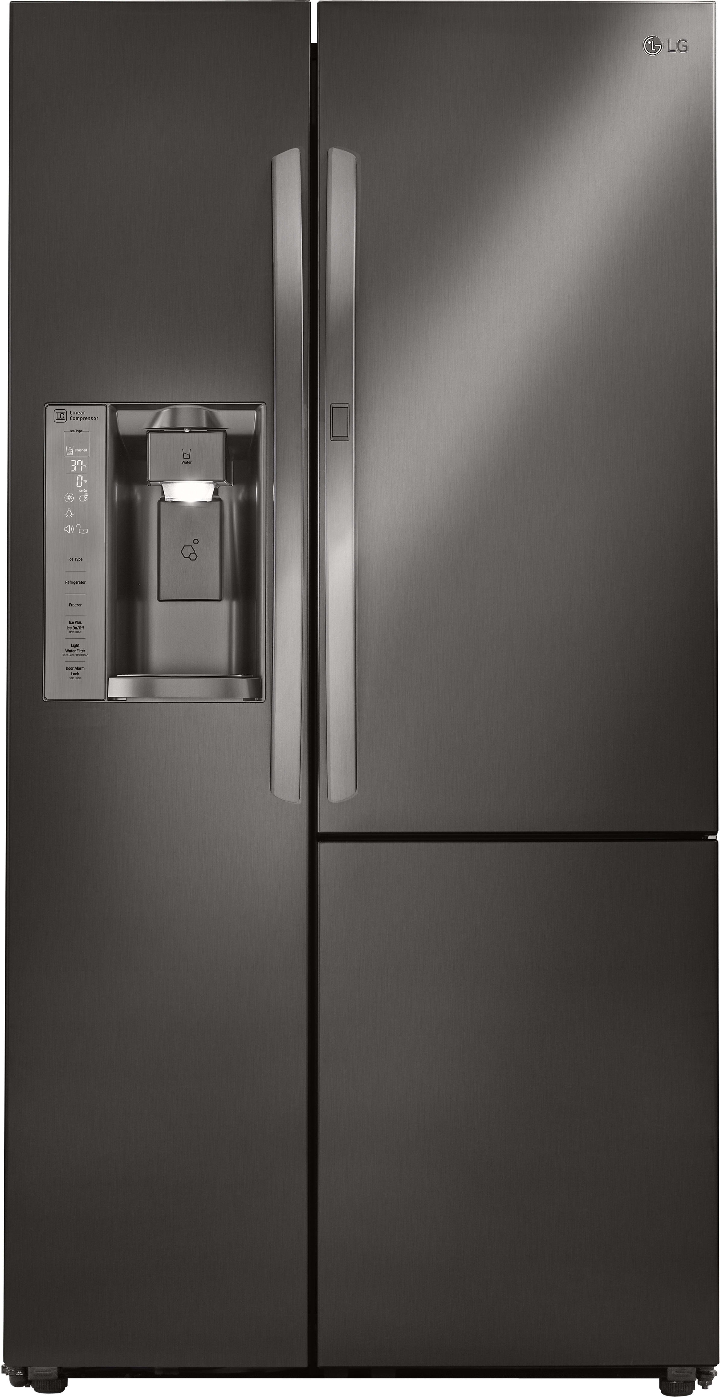 lg lsxs26366d 36 inch side by side refrigerator with door. Black Bedroom Furniture Sets. Home Design Ideas