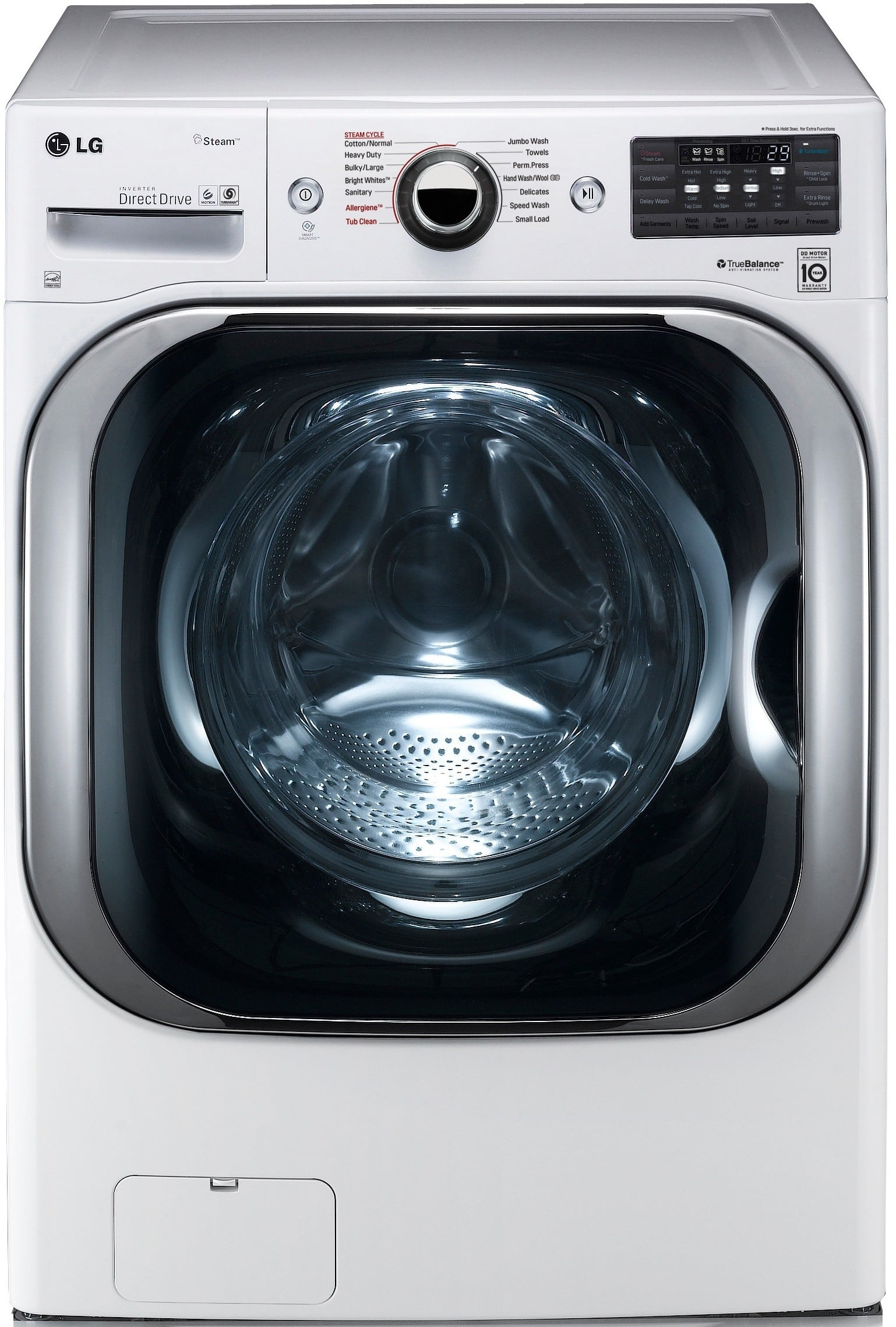 LG WM8100HWA 29 Inch 5 2 cu ft Front Load Washer with 14 Wash