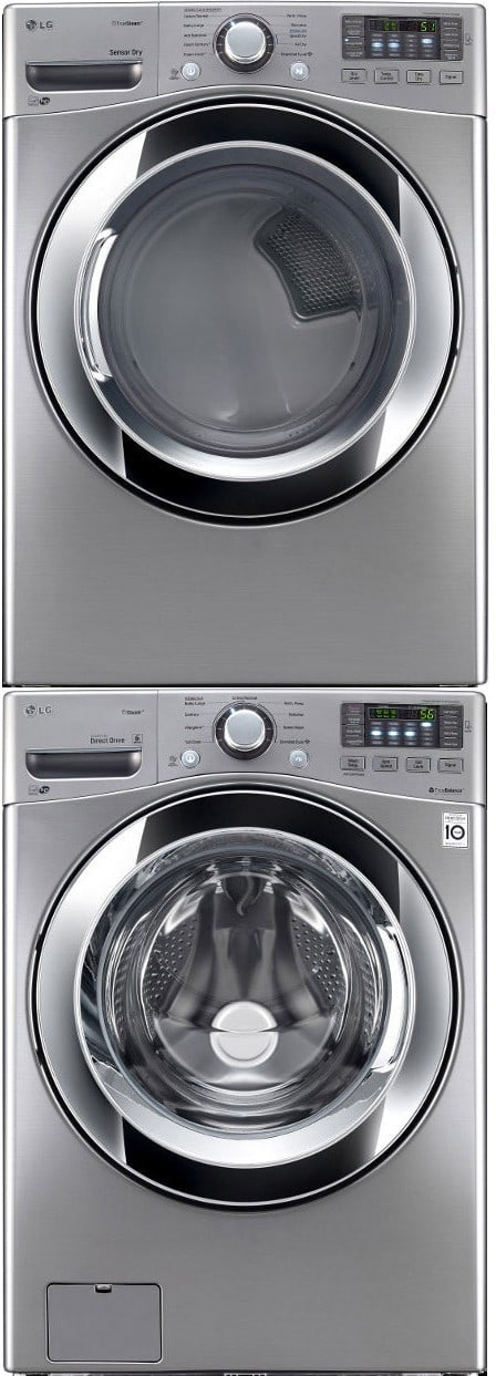 Lg Lgwadrgv104 Stacked Washer Amp Dryer Set With Front Load