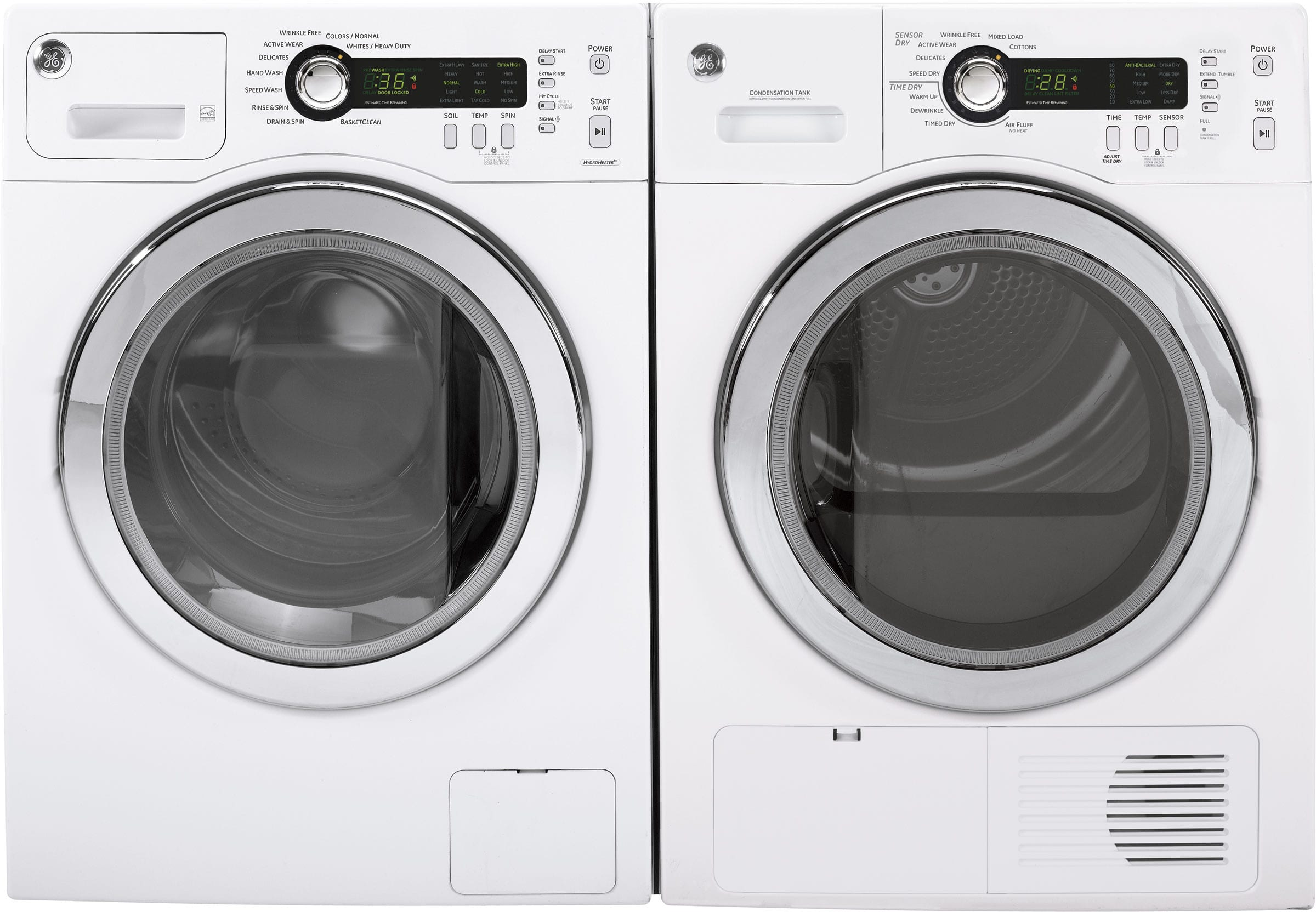 Ge Gewadrew6 Side By Side Washer Amp Dryer Set With Front