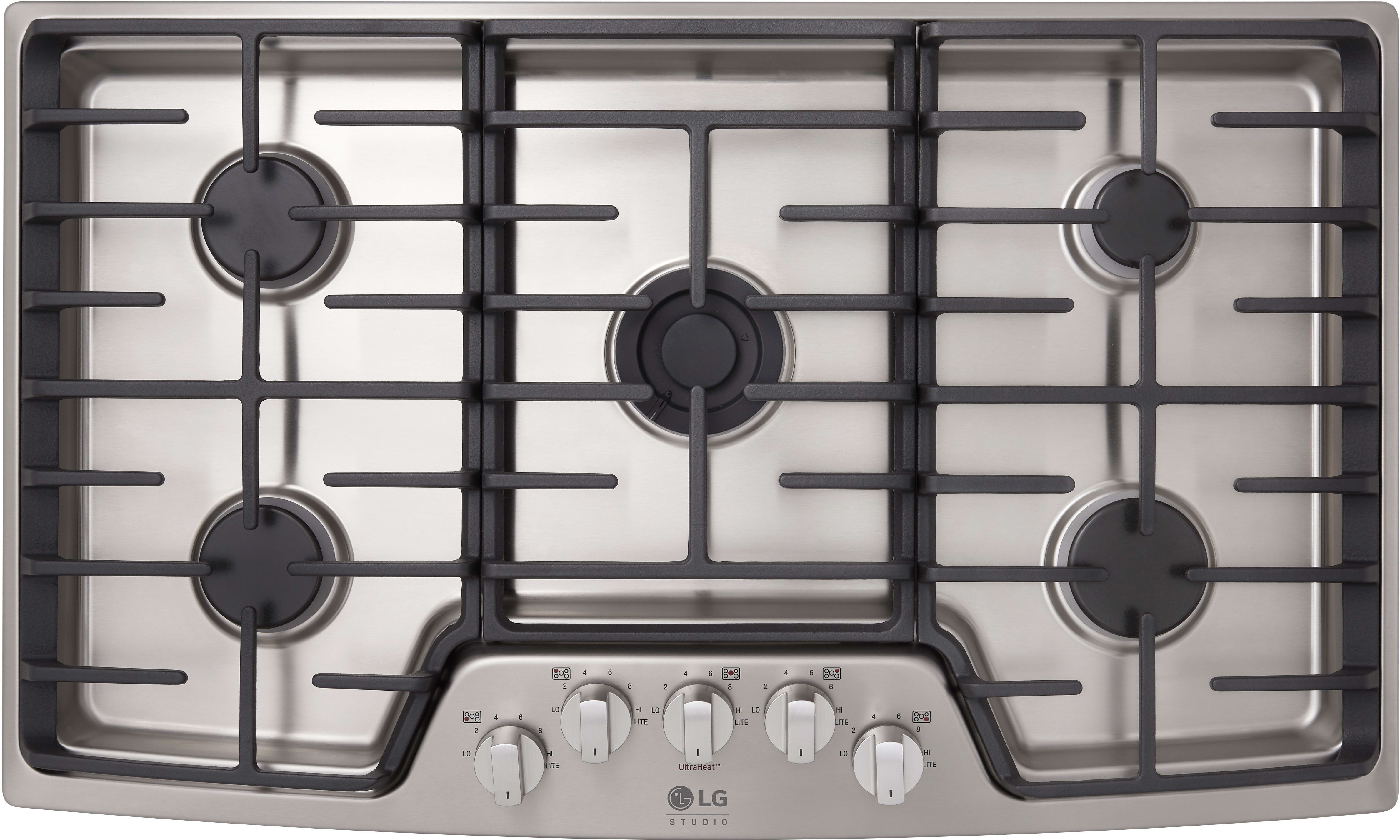 LG LSCG367ST 36 Inch Gas Cooktop with UltraHeat Burner, Simmer ...