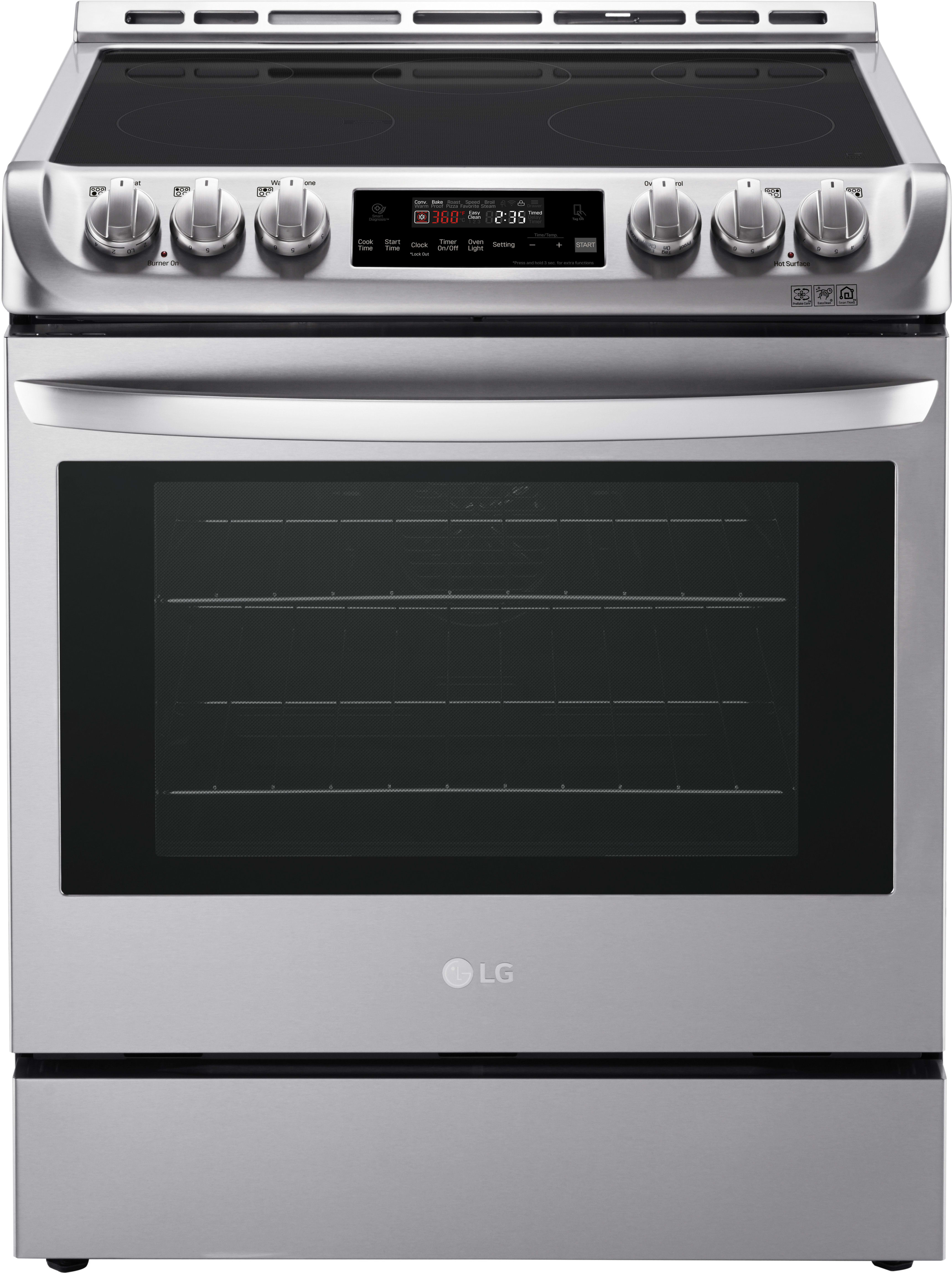 Lg Lse4611st 30 Inch Slide In Electric Range With Probake