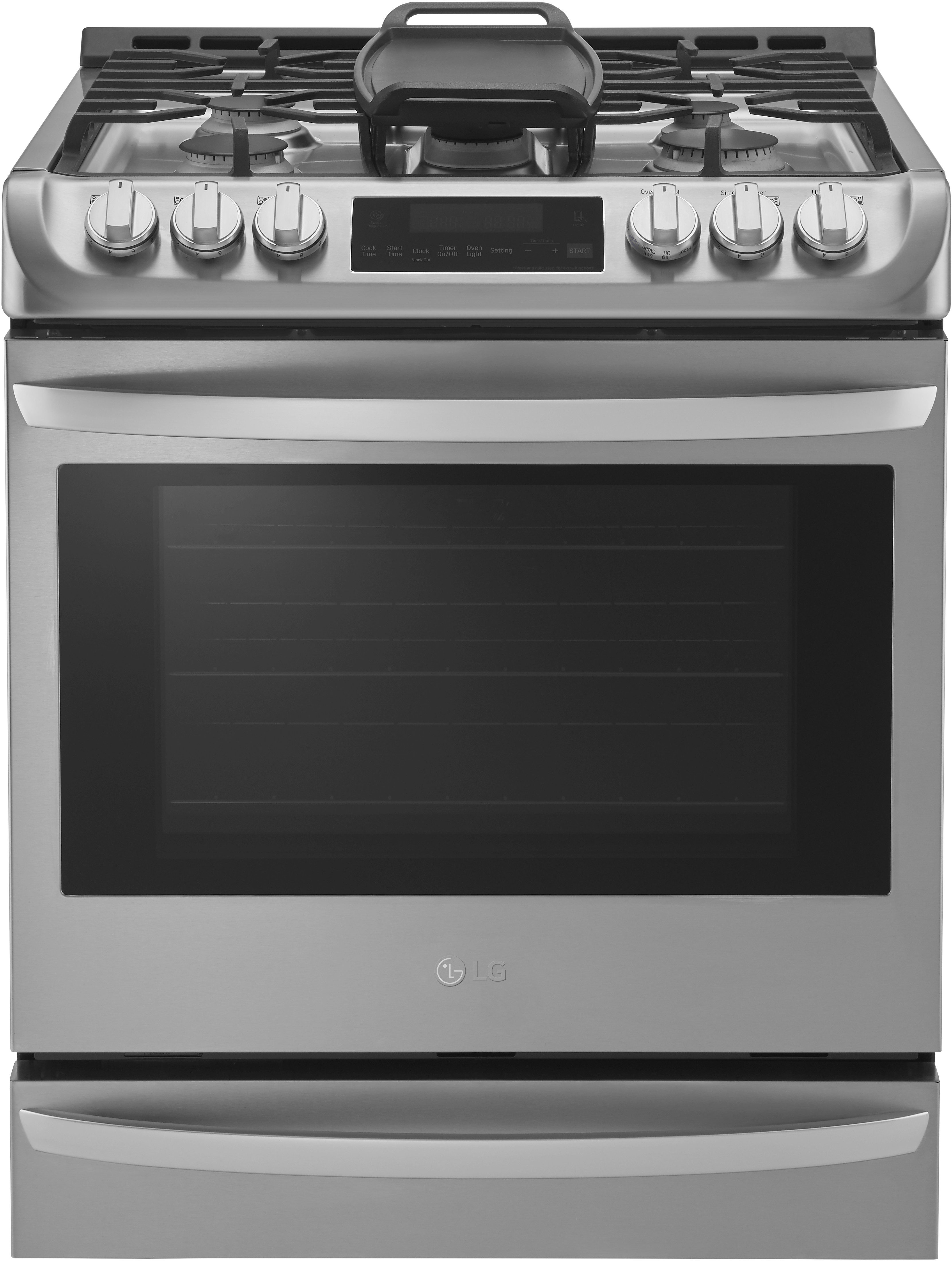 Lg Lsg4513st 30 Inch Slide In Gas Range With Convection Ultraheat Burner Easyclean 6 3 Cu Ft Capacity 5 Sealed Burners 11 Cooking Modes