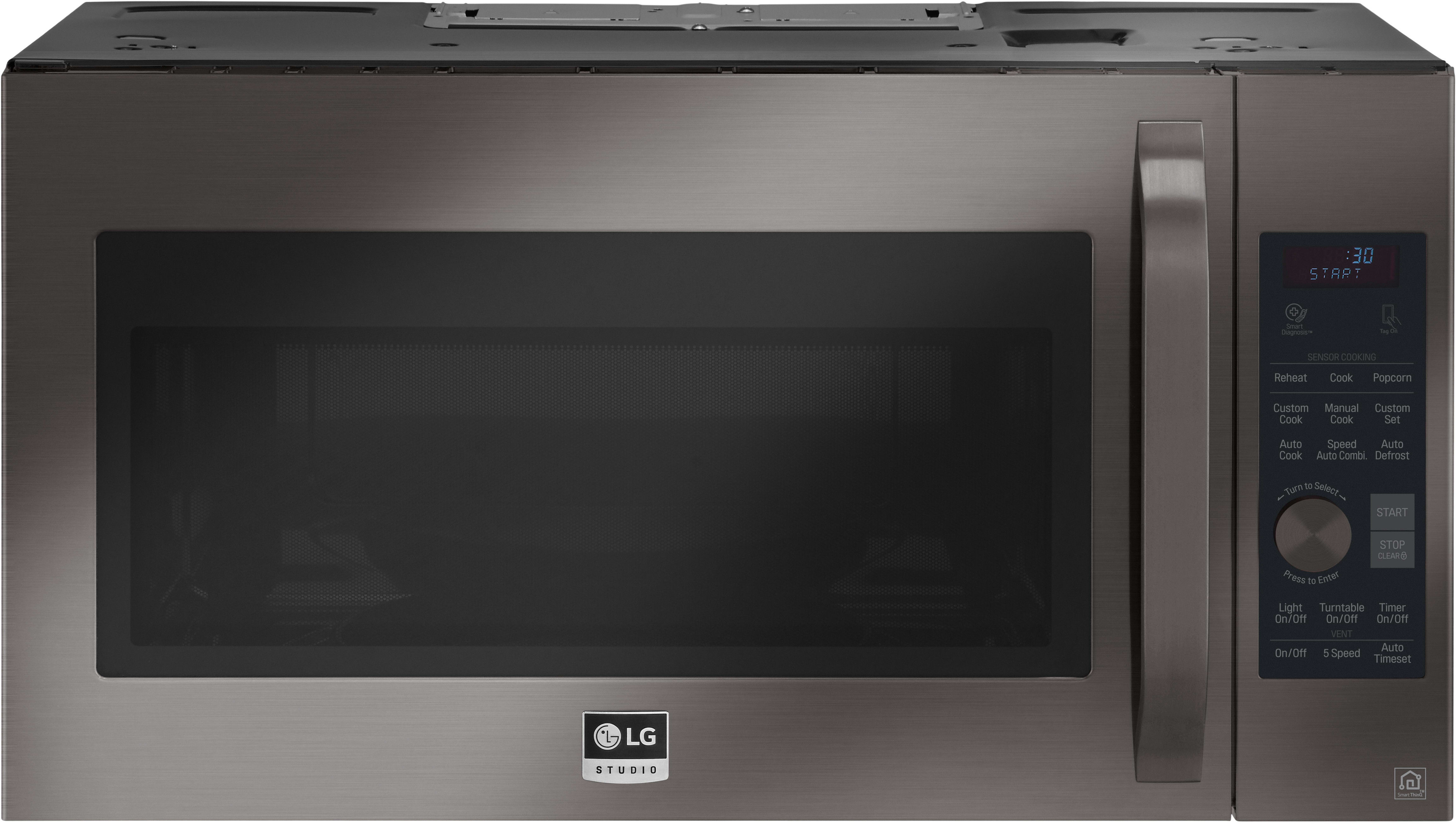Lg Lsmc3089bd 1 7 Cu Ft Over The Range Convection