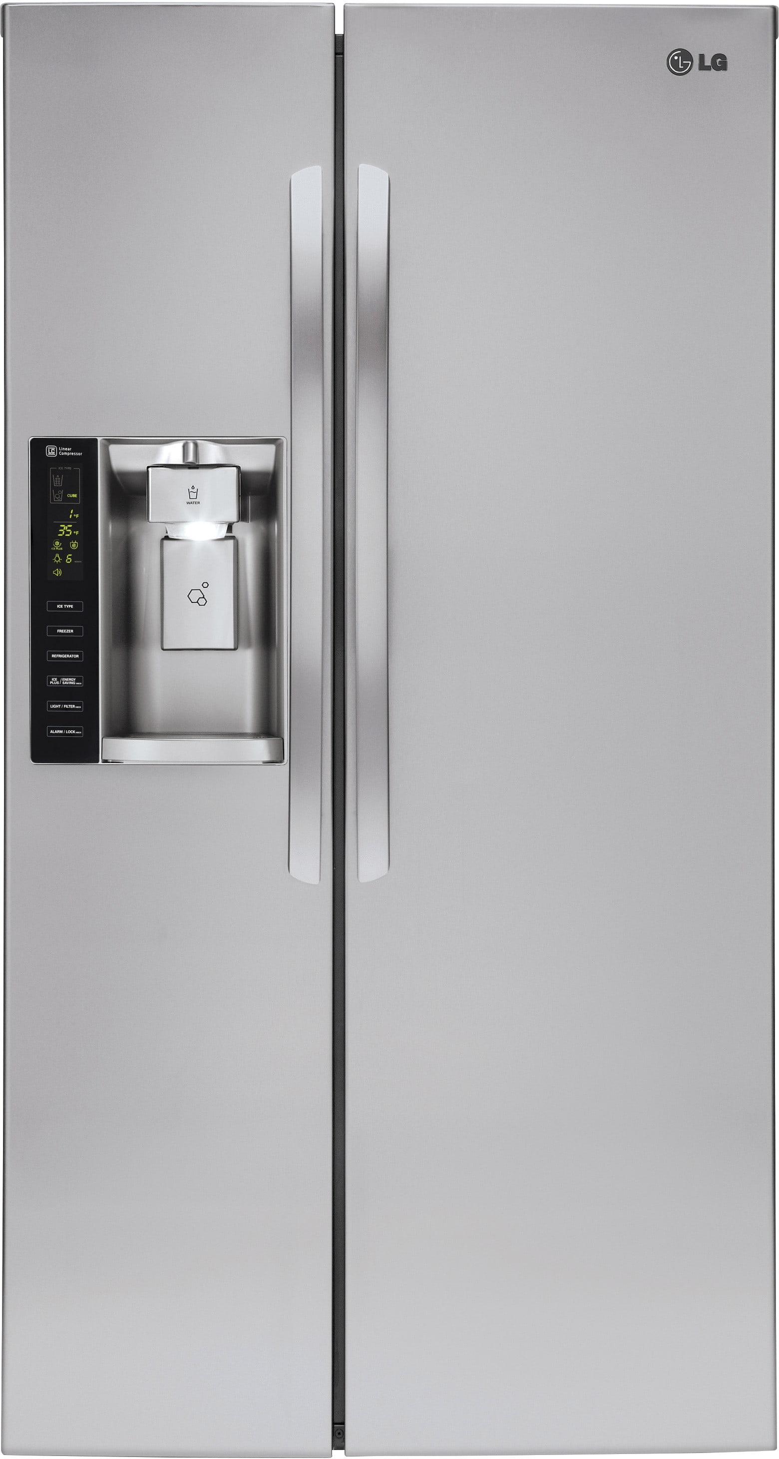 Lg Lsxs26326s 36 Inch Side By Side Refrigerator With Smart