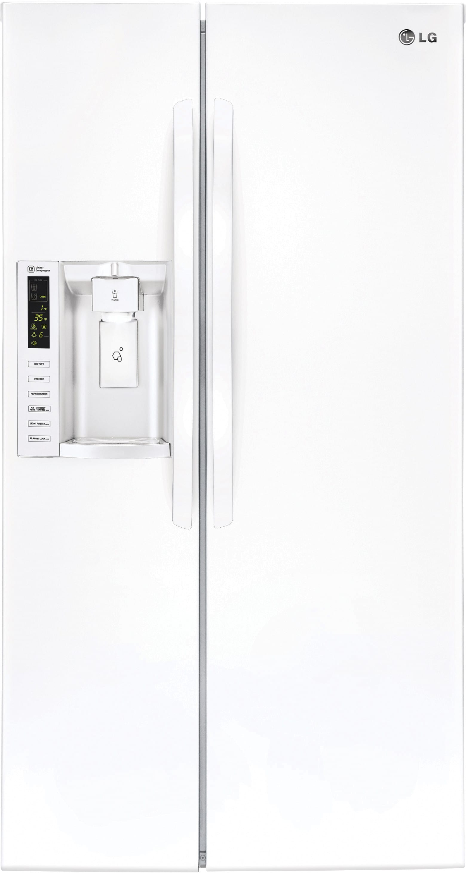 LG LSXS26326W 36 Inch Side-by-Side Refrigerator with Linear ...
