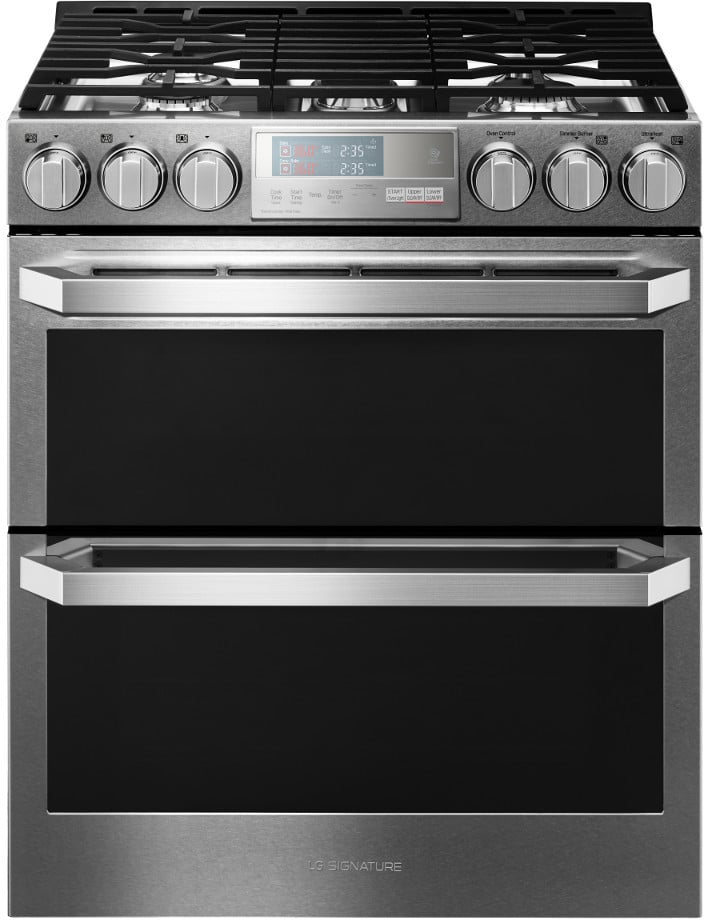 Lg Lutg4519sn 30 Inch Slide In Gas Range With Dual Ovens