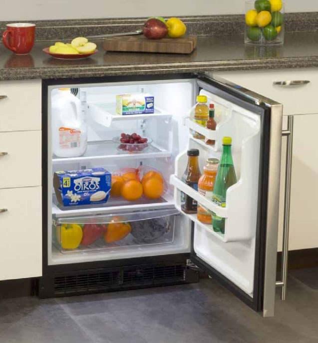 marvel ma24ras2rs 24 inch built in refrigerator with 2 cantilever glass shelves clear crisper. Black Bedroom Furniture Sets. Home Design Ideas
