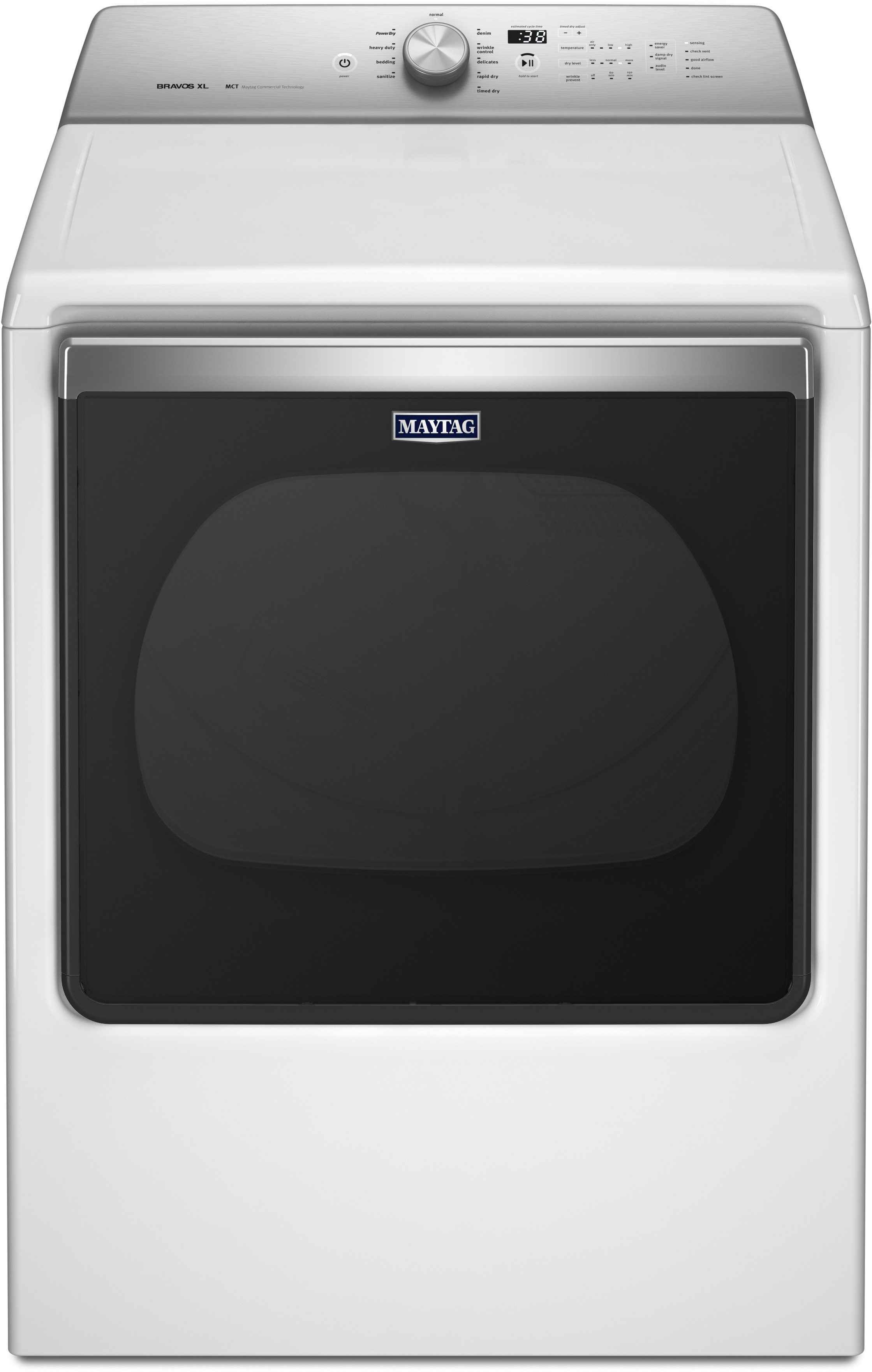 Maytag MEDB835DW 29 Inch Electric Dryer with Heavy Duty Sanitize