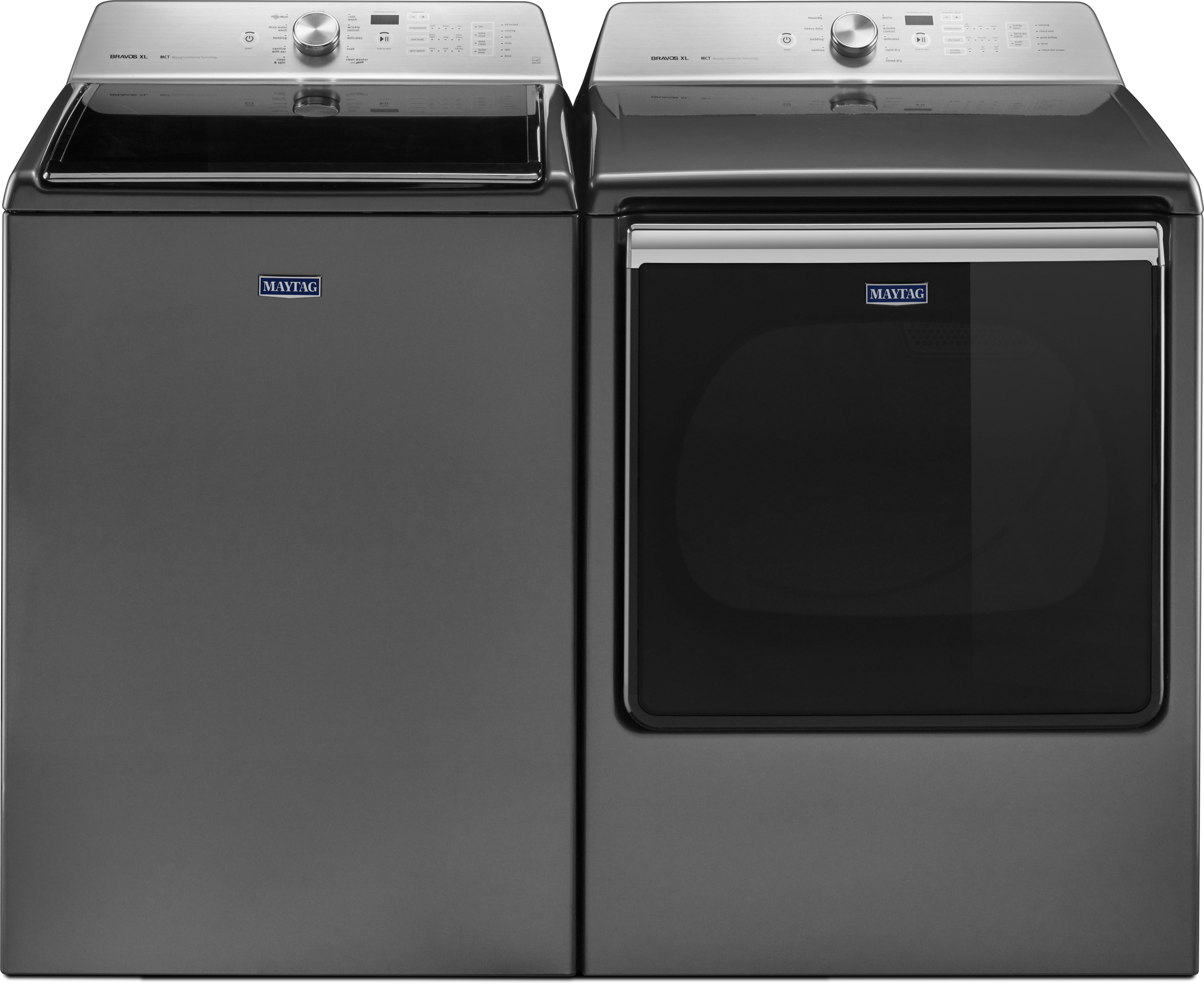 Maytag mawadrems1 side by side washer dryer set with top - Maytag whirlpool ...