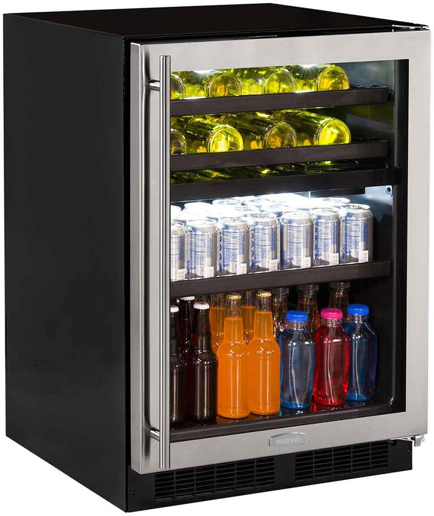 Marvel Ml24wbg1rs 24 Inch Dual Zone Wine And Beverage