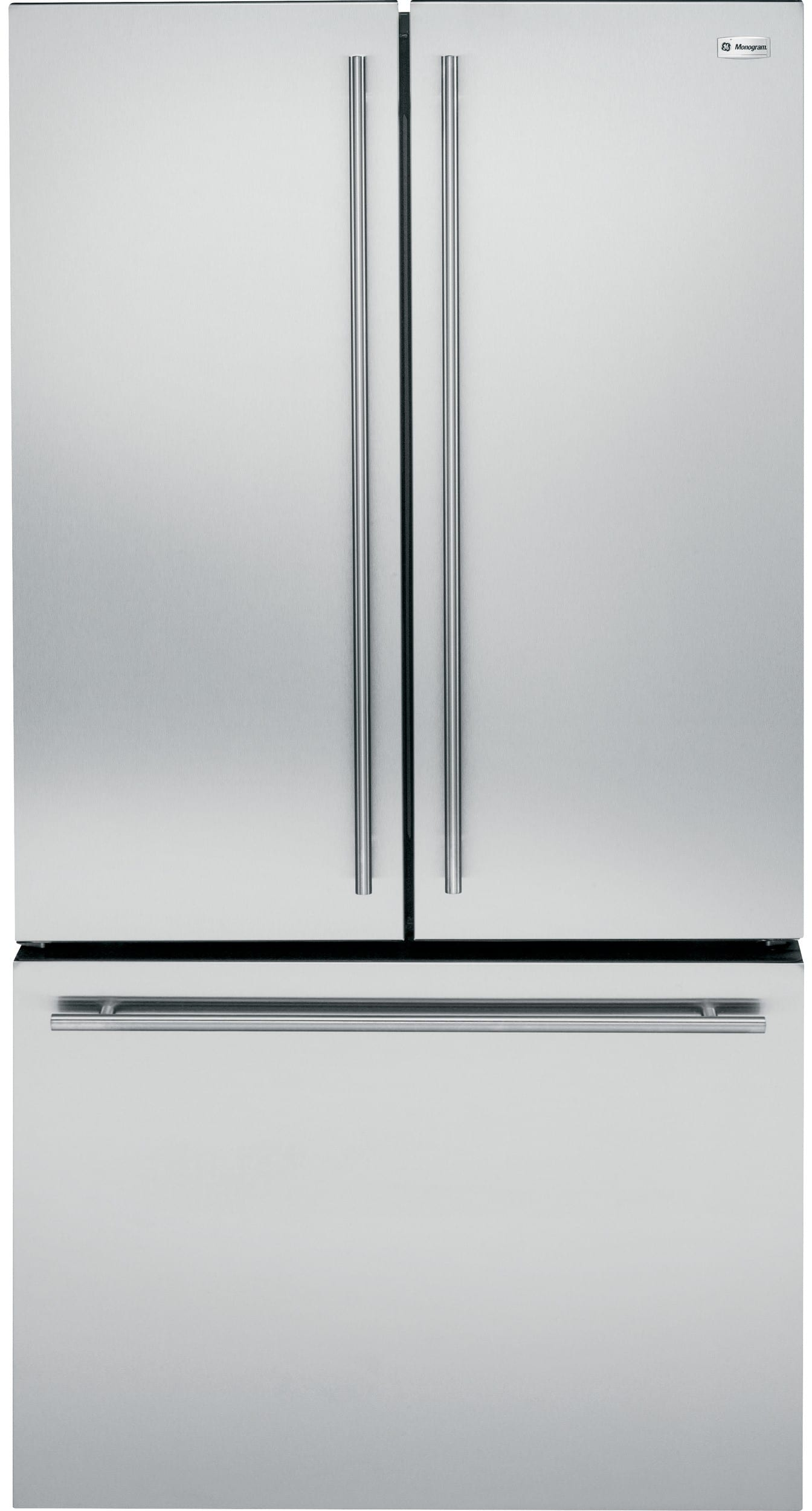 Monogram Zwe23eshss 36 Inch Counter Depth French Door Refrigerator