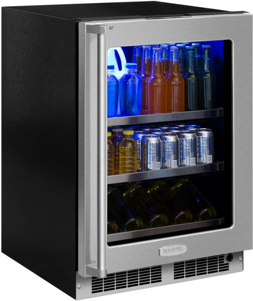 Marvel Mp24bcg4rs 24 Inch Built In Beverage Center With Uv