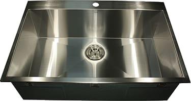 Nantucket sinks zr3322s16 33 inch top mount kitchen sink with 10 nantucket sinks pro series zr3322s16 top mount kitchen sink from nantucket workwithnaturefo