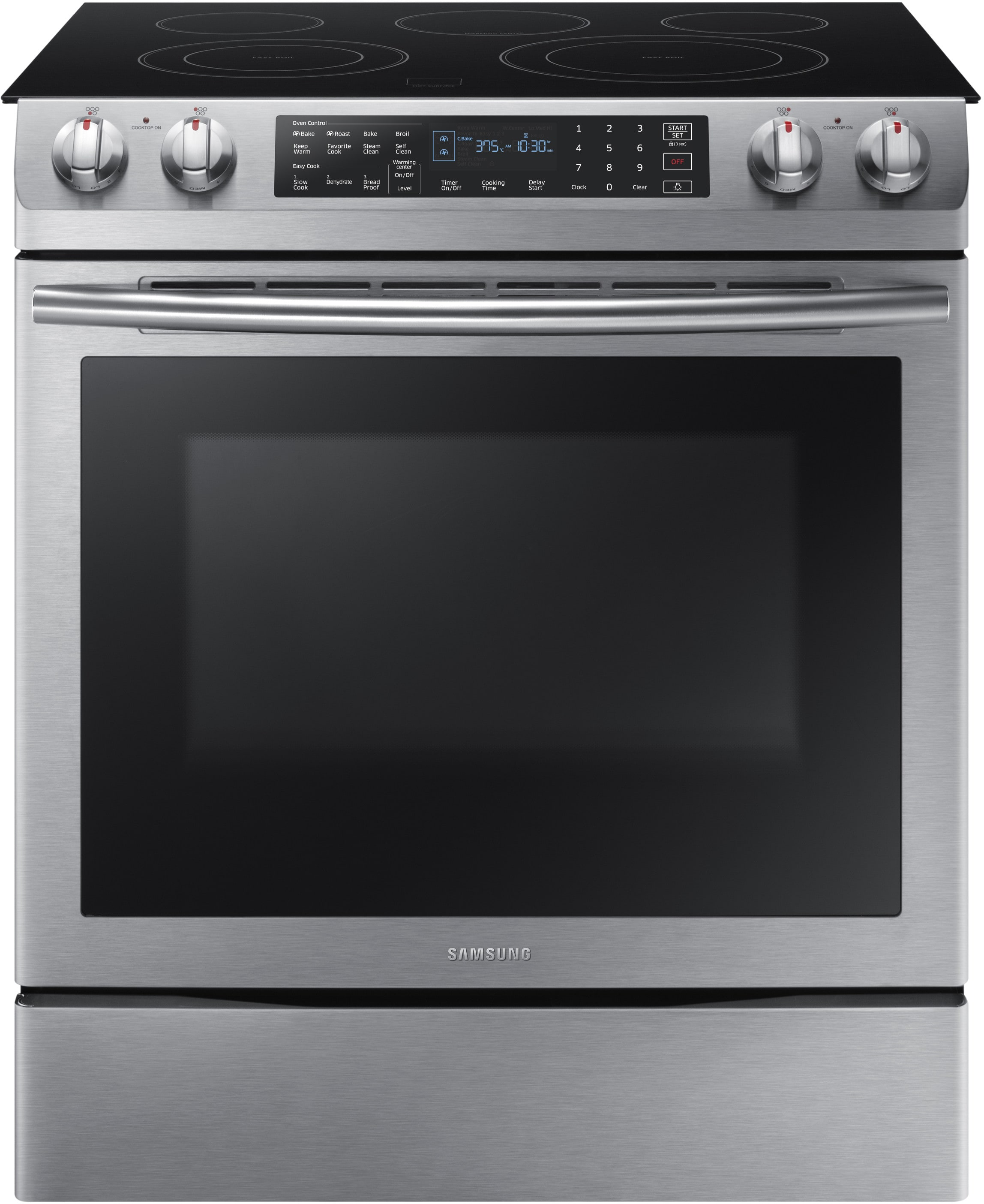 Samsung Ne58k9430ss 30 Inch Slide In Electric Range With 5