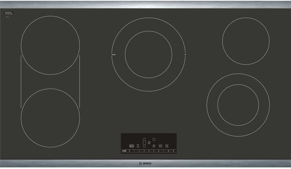 Bosch Net8668suc 36 Inch Electric Cooktop With 5 Smoothtop