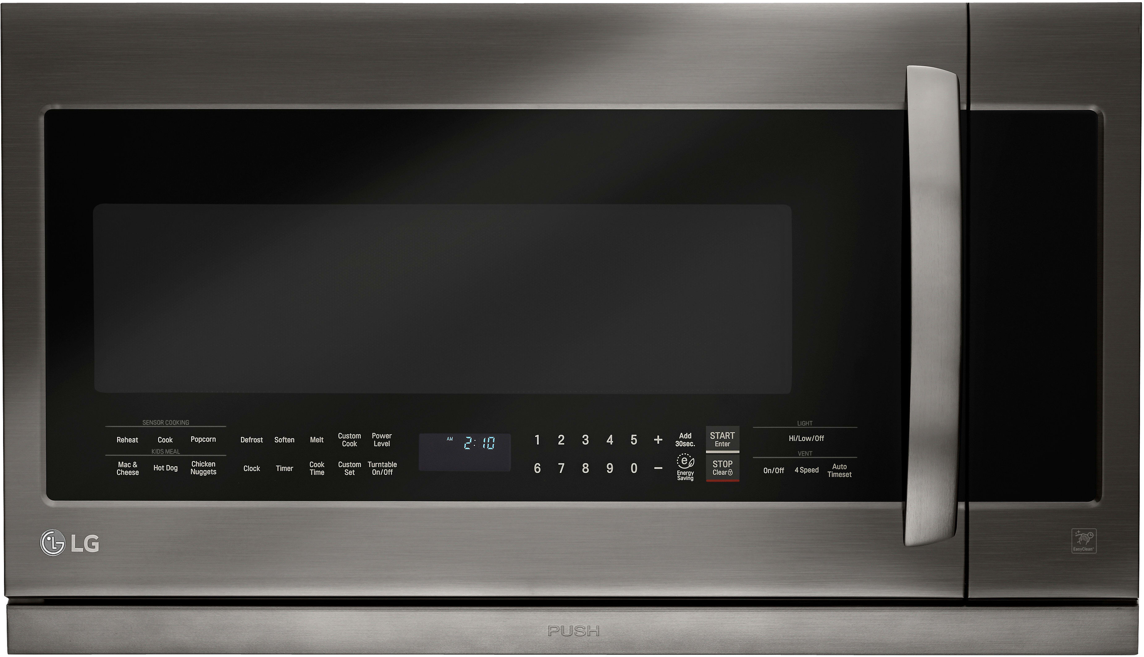 Lg Lmhm2237bd 2 2 Cu Ft Over The Range Microwave Oven