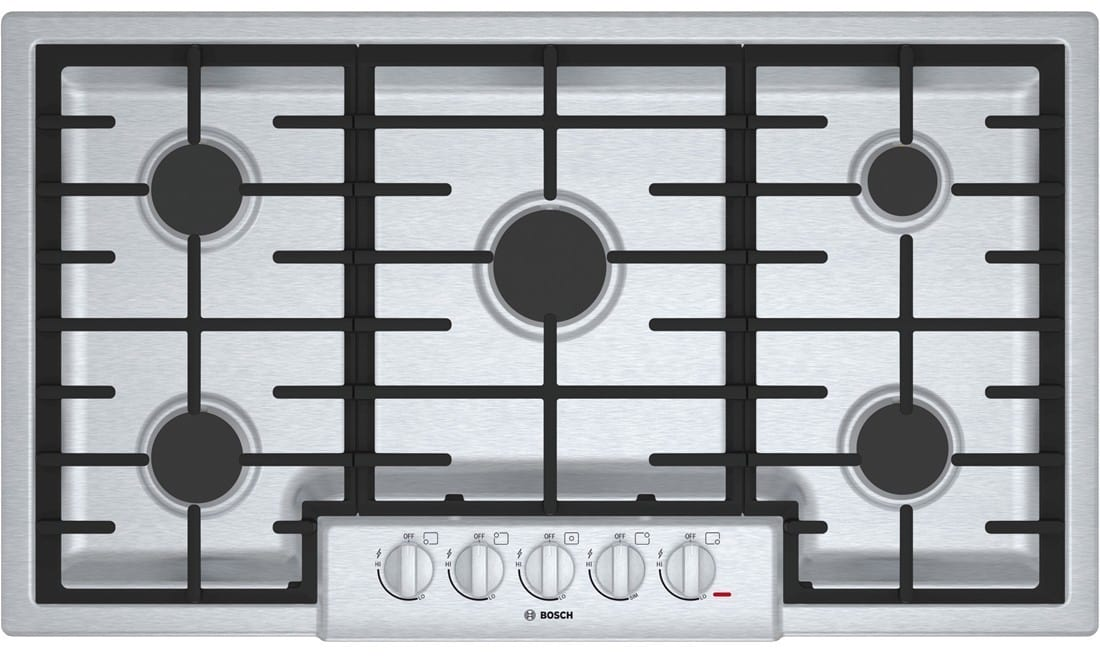 Bosch Ngm8655uc 37 Inch Gas Cooktop With Automatic Re