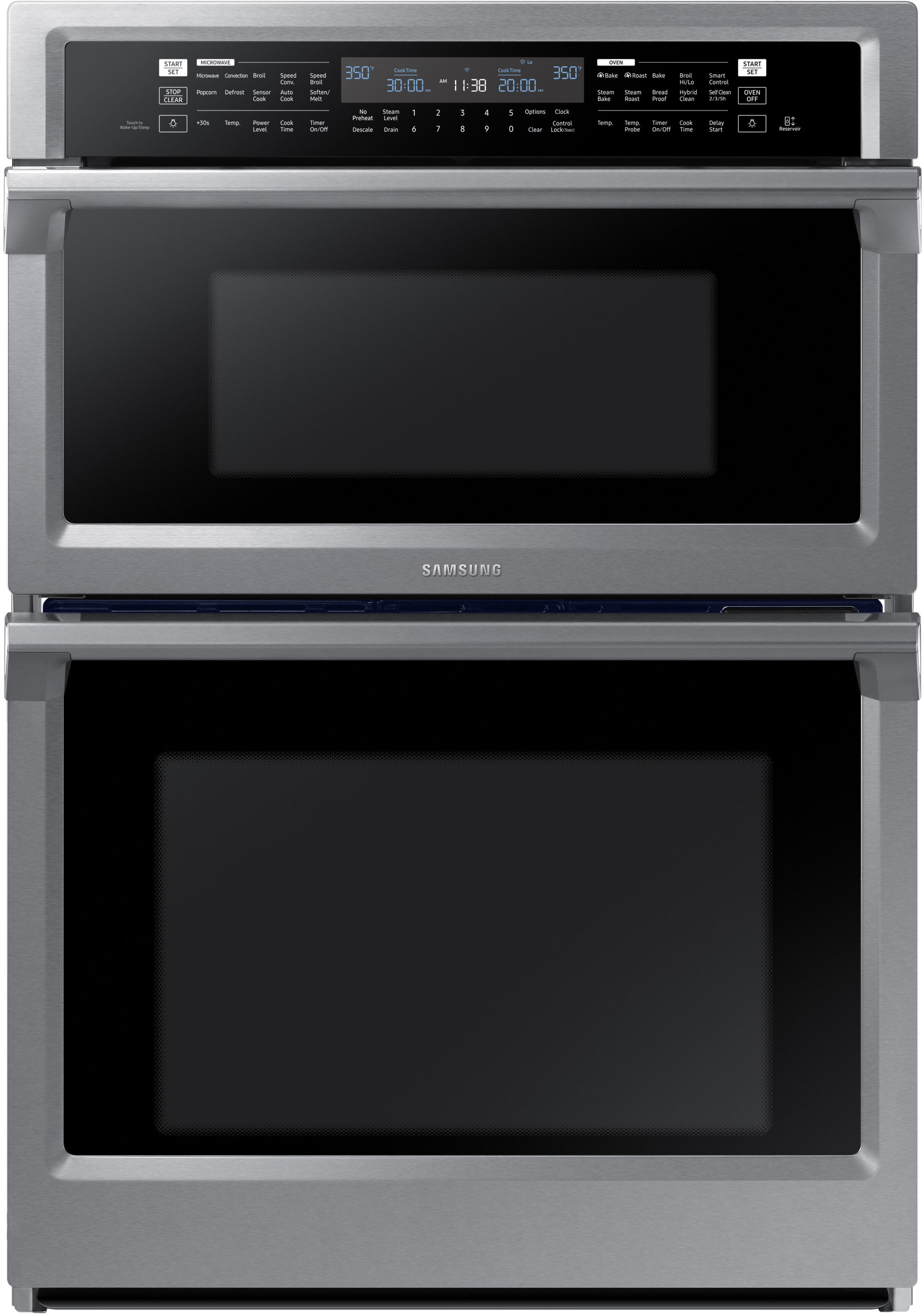 Samsung Nq70m6650ds 30 Inch Combination Electric Wall Oven